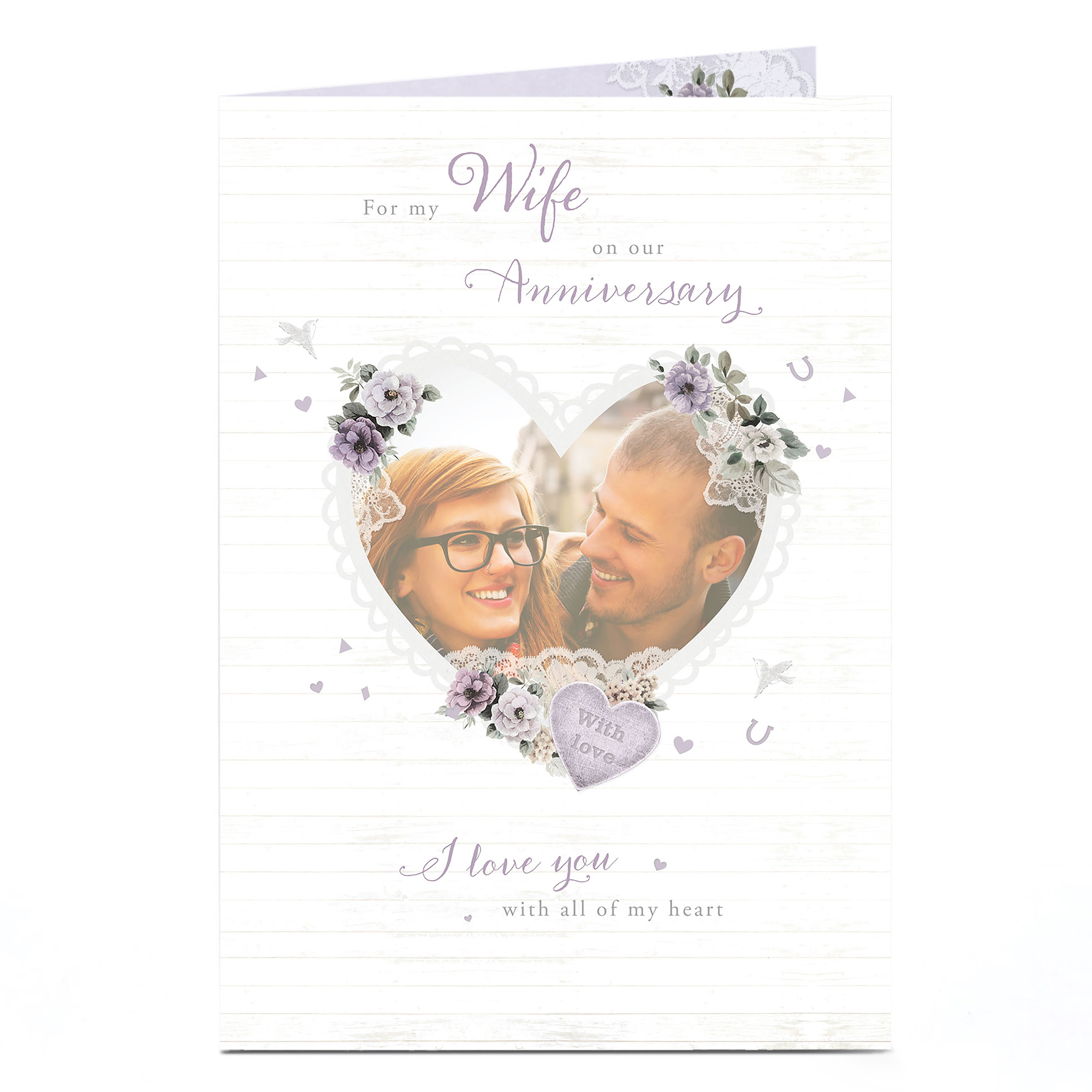 Photo Anniversary Card - Love You With All Of My Heart