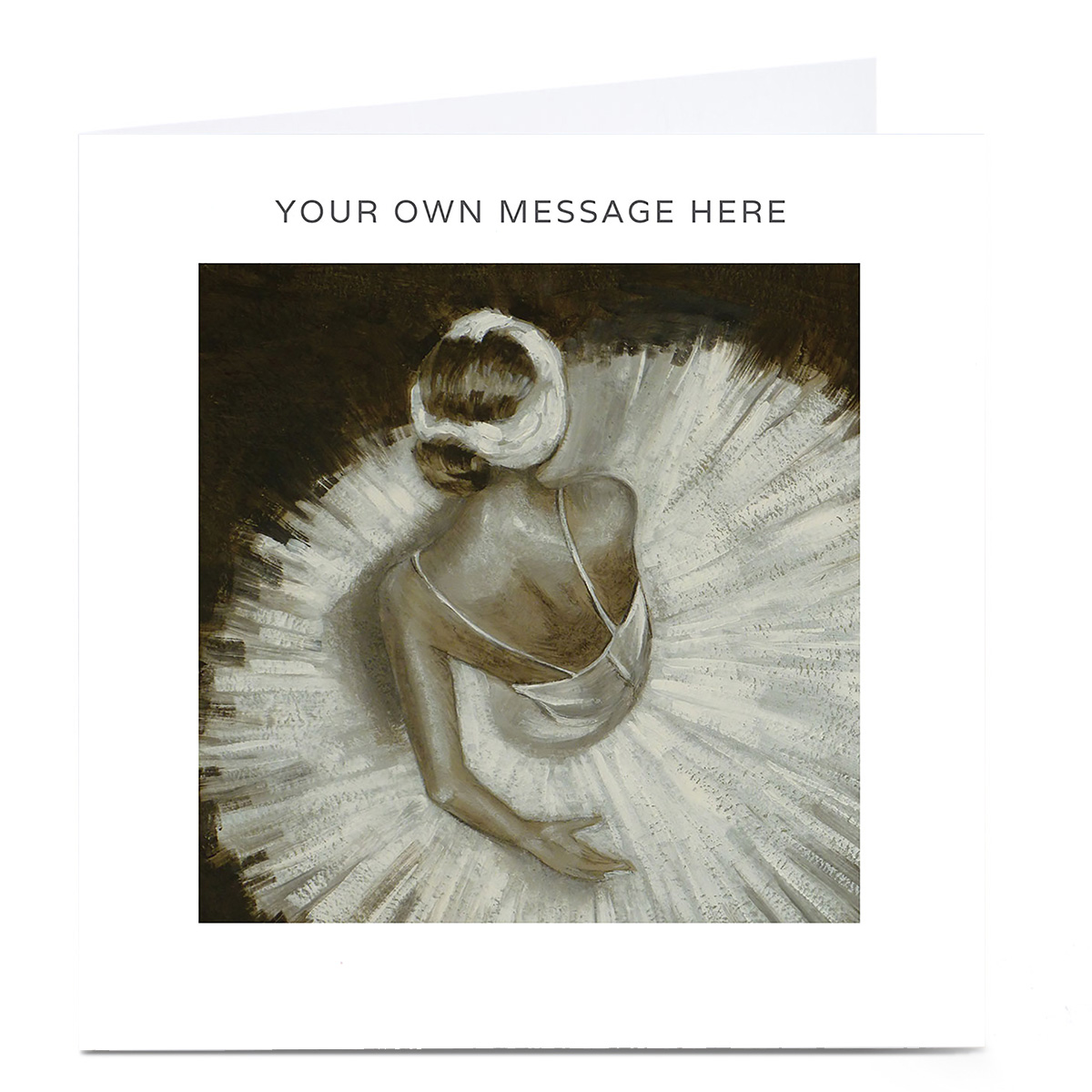 Personalised Card - Ballerina