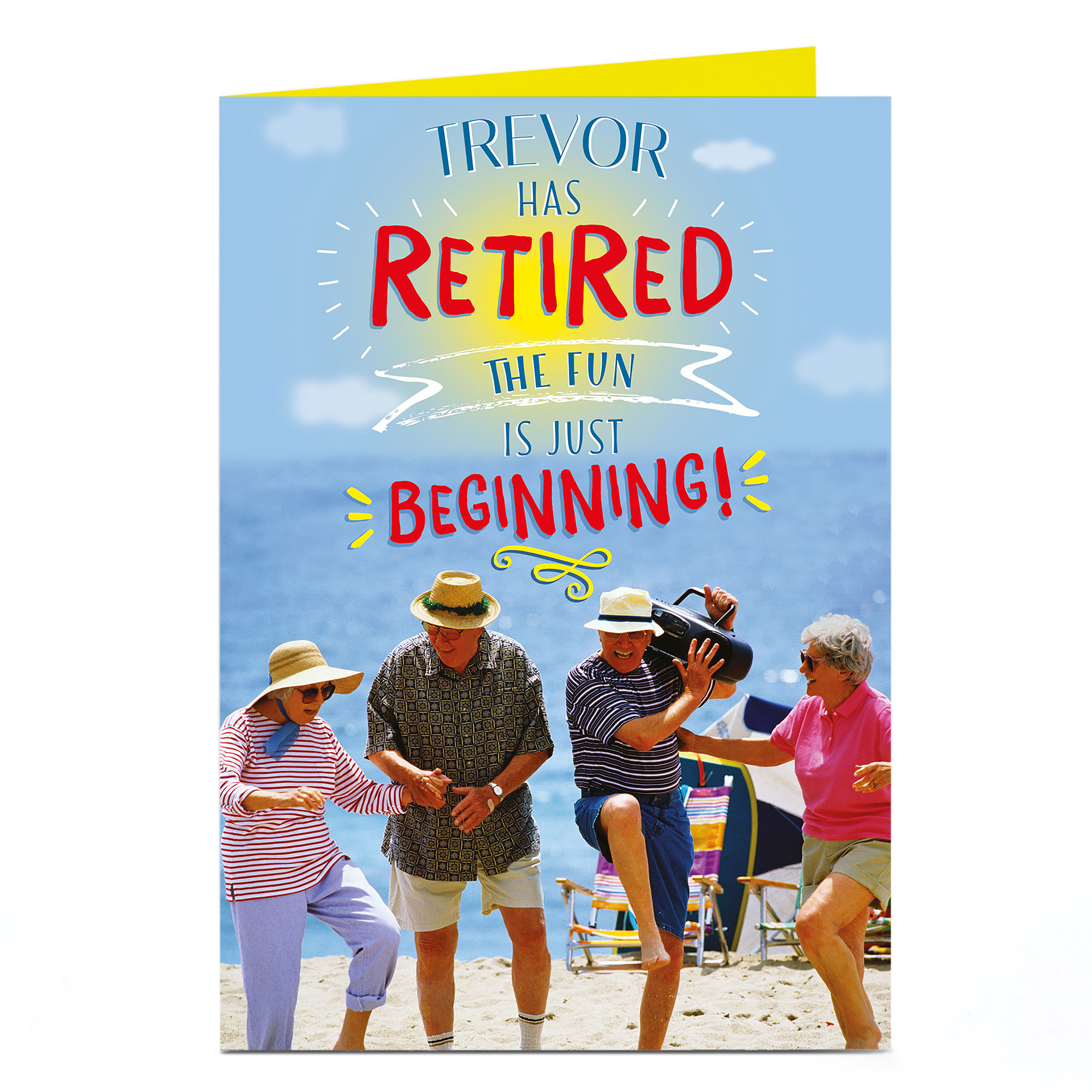 Personalised Retirement Card - Just The Beginning