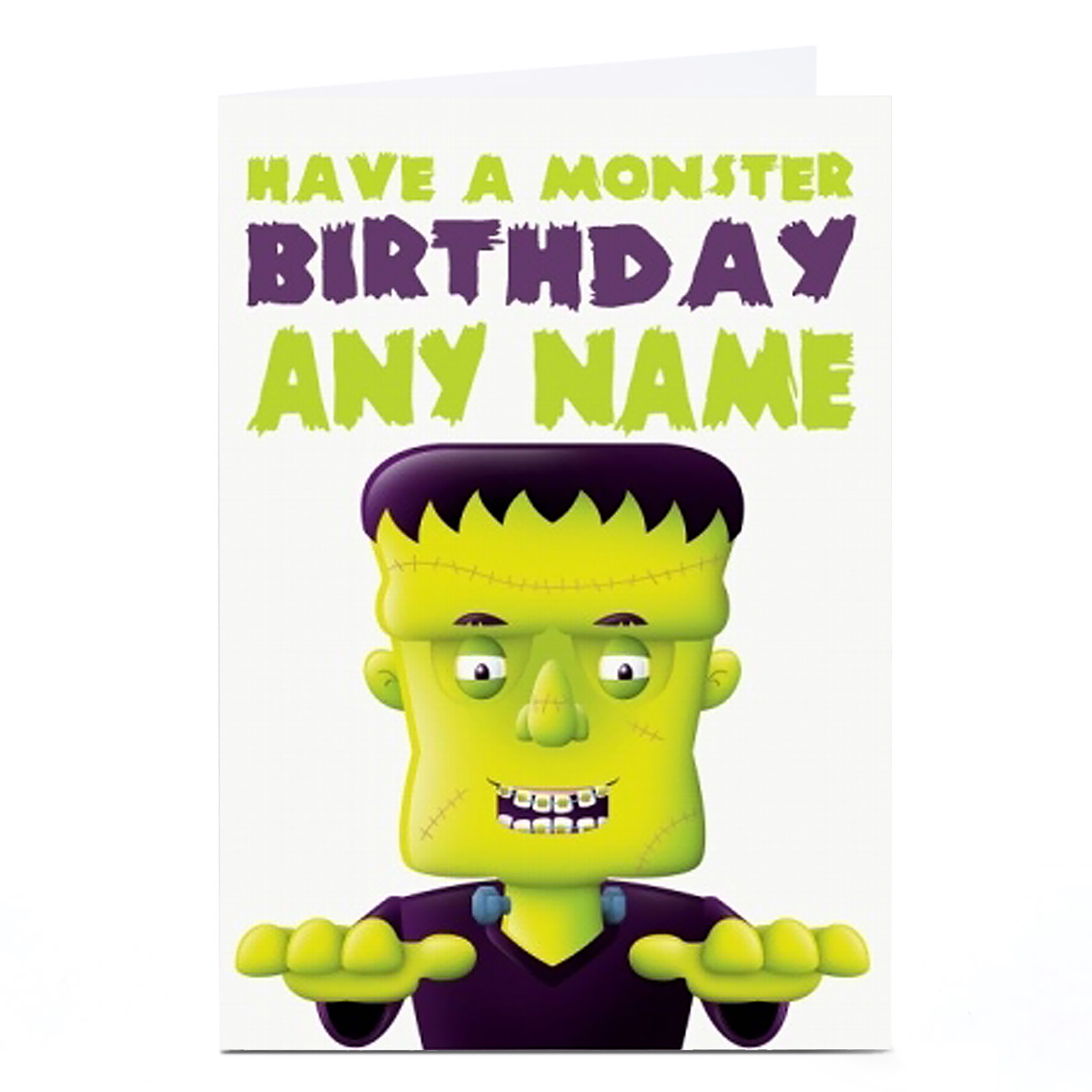 Personalised Birthday Card - Frankenstein