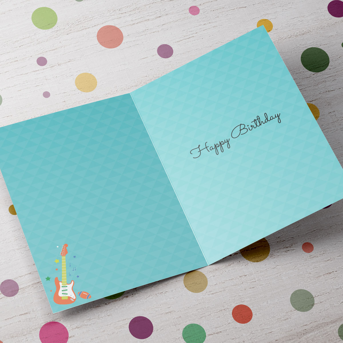 Personalised Any Age Birthday Card - Music, Sports & Presents