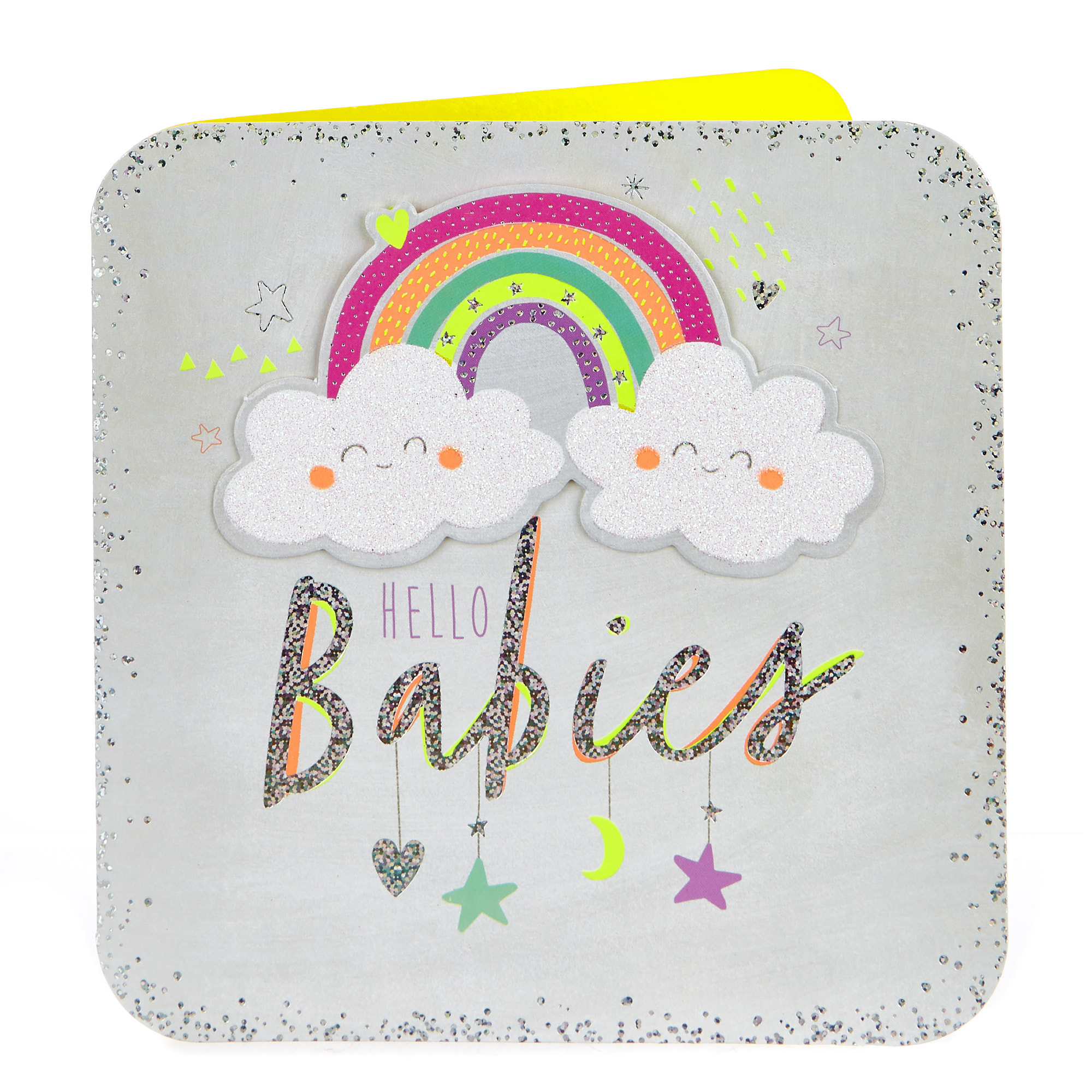 Boutique Collection New Baby Card - Hello Babies