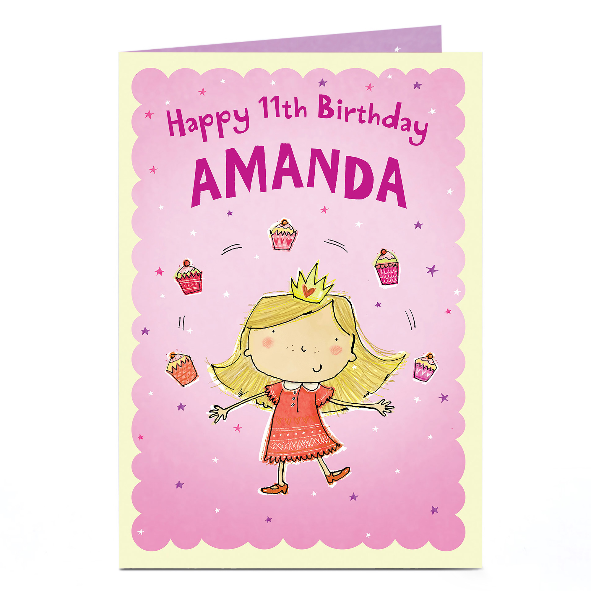 Personalised Any Age Birthday Card - Cupcakes