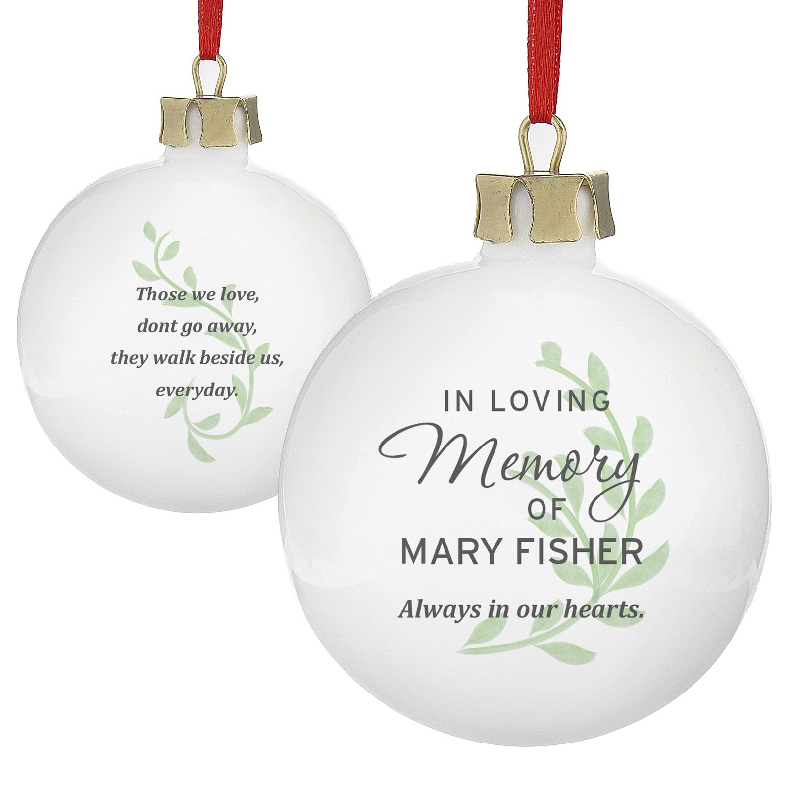 Personalised Memorial Bauble - In Loving Memory