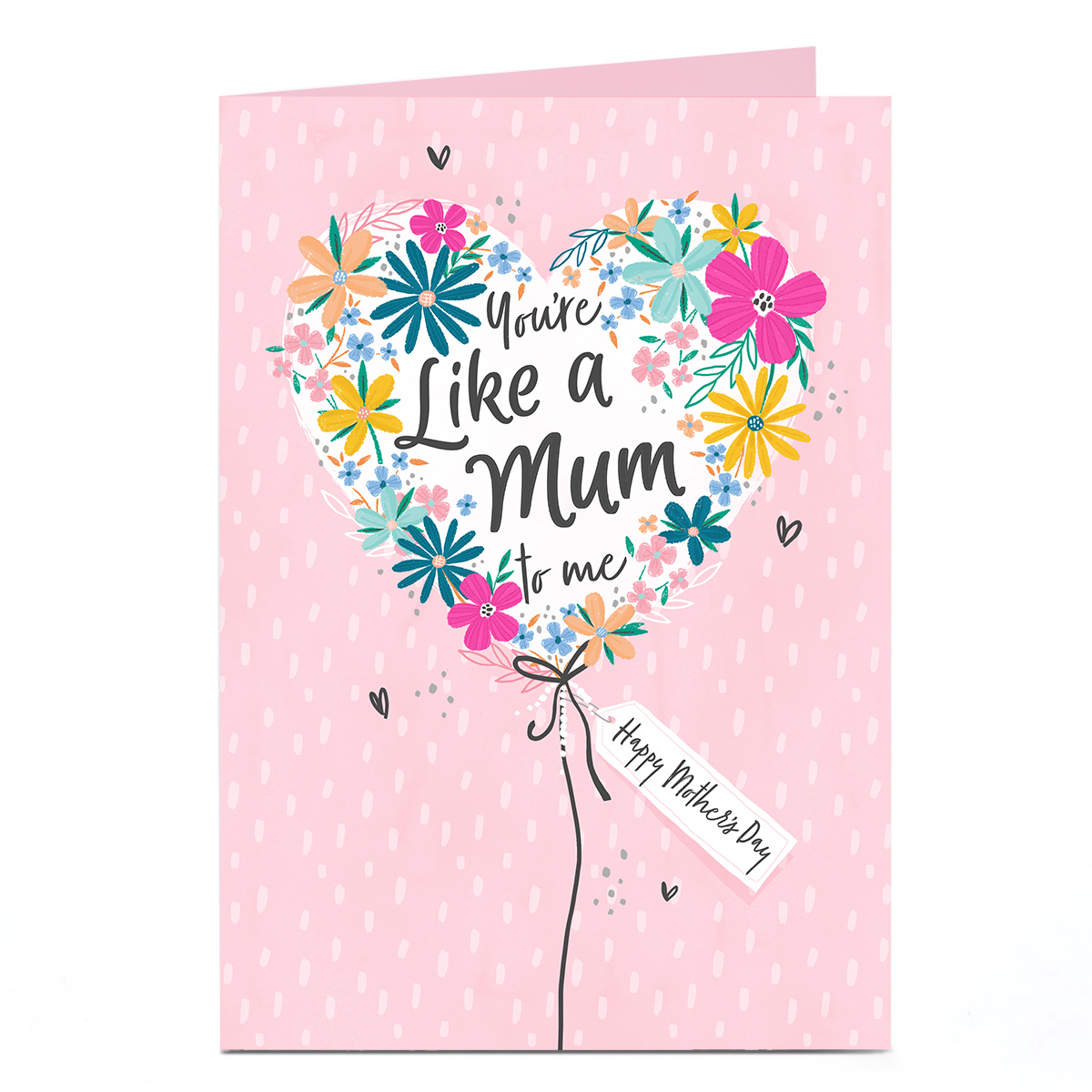 Personalised Mother's Day Card - Like A Mum Heart Balloon