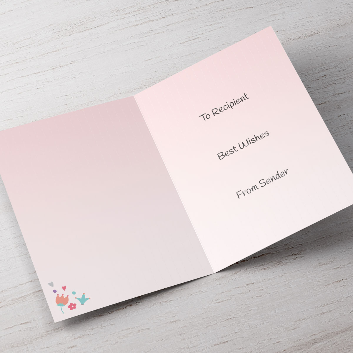 Personalised Wedding Card - On Your Wedding Day, Floral pink