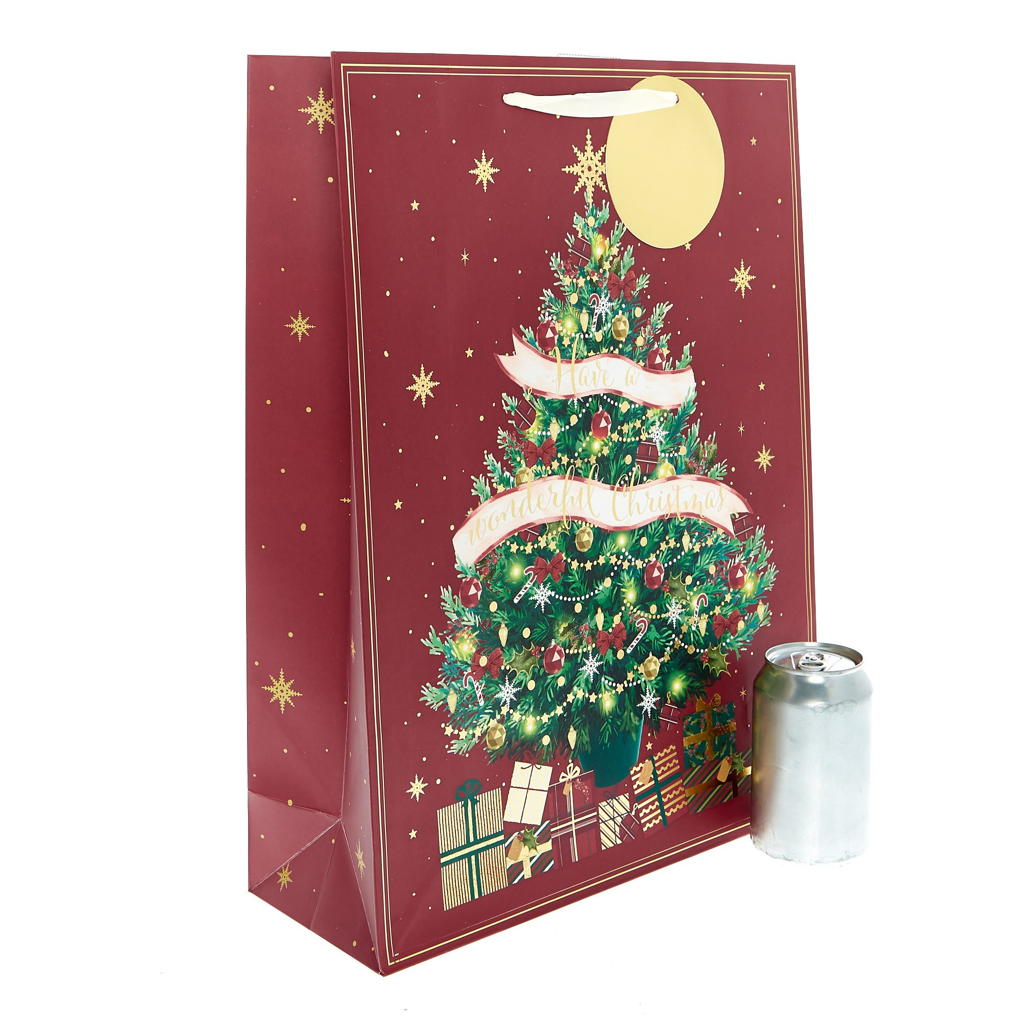 Large Portrait Traditional Tree Christmas Gift Bag