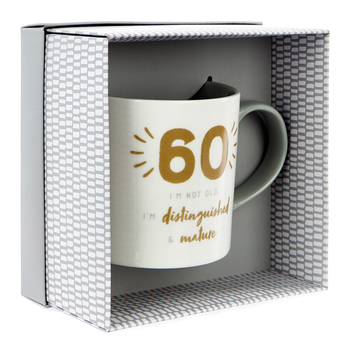 60th Birthday Mug - Distinguished & Mature