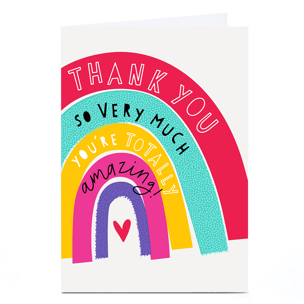 Personalised Thank You Card - You're Totally Amazing