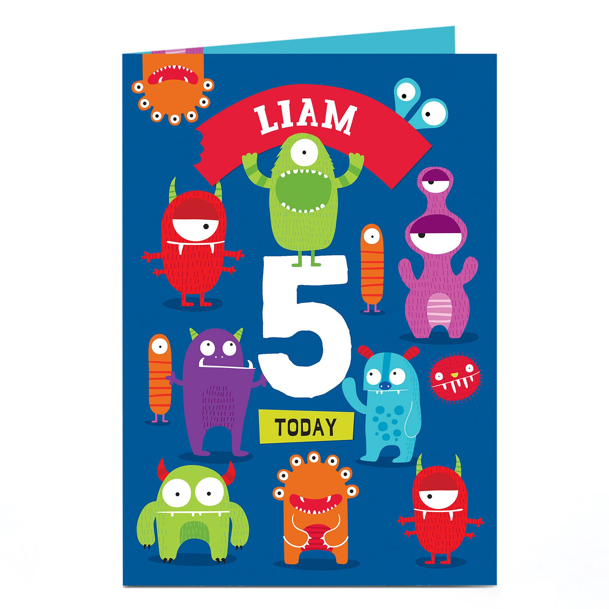 Personalised Any Age Birthday Card - Multicoloured Monsters