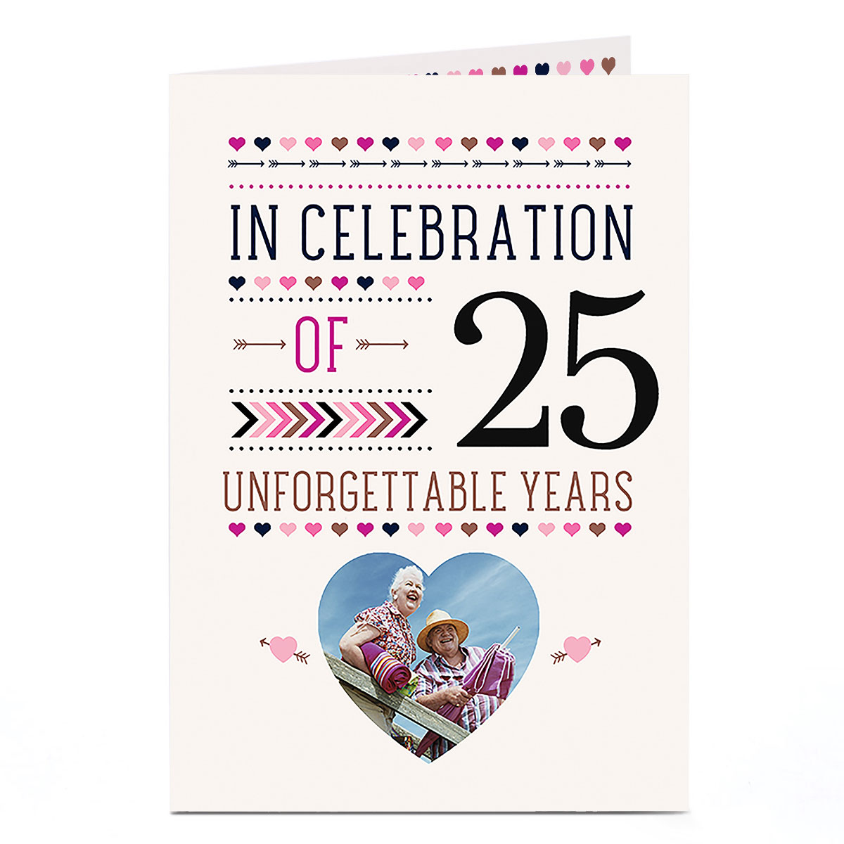 Photo Anniversary Card - 25 Unforgettable Years