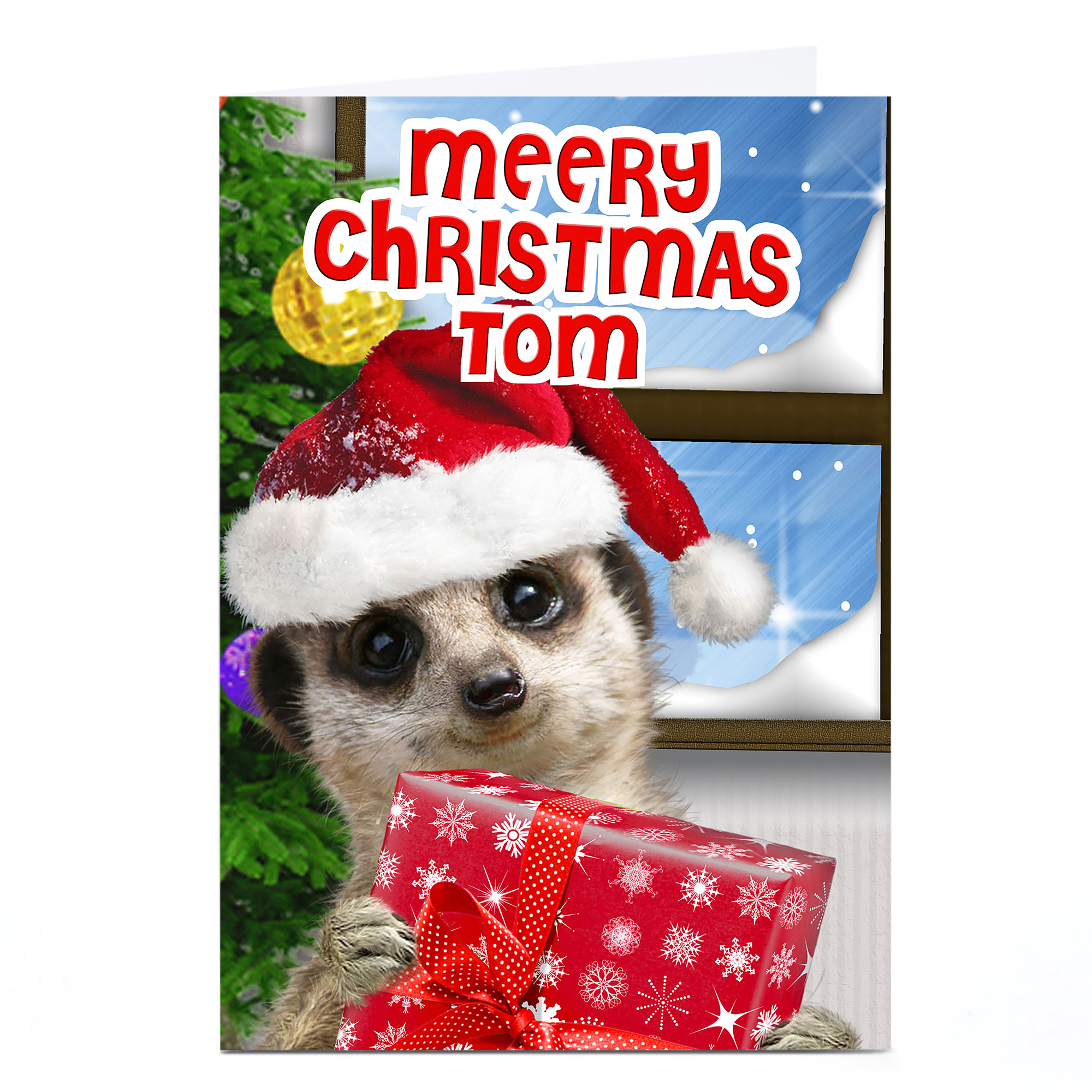 Personalised Christmas Card - Meerkat Gift