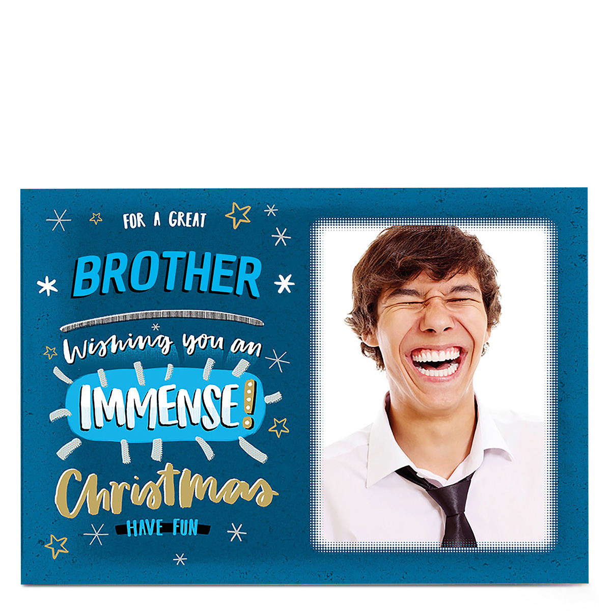 Photo Christmas Card - For A Great Brother
