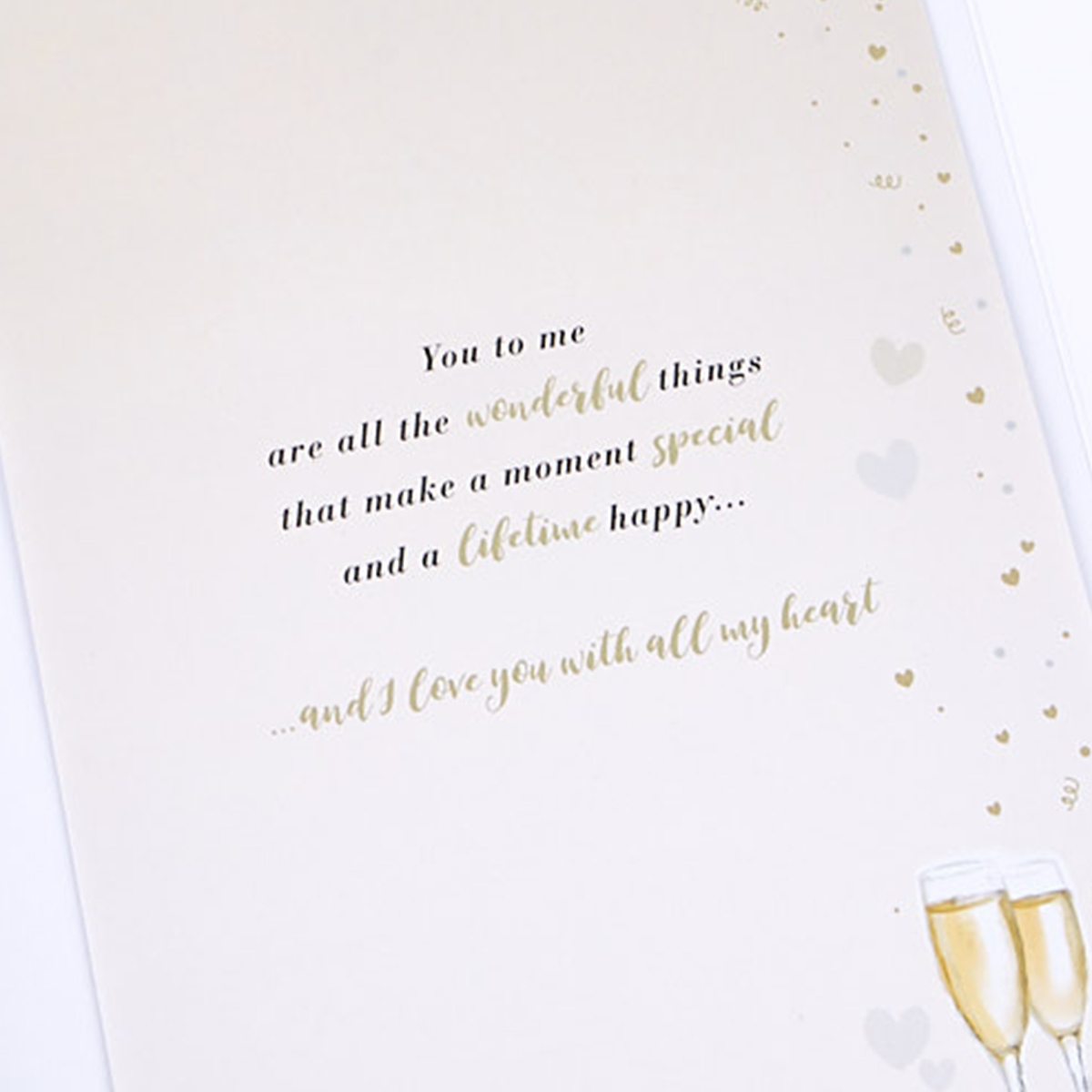 Wedding Anniversary Card - Champagne