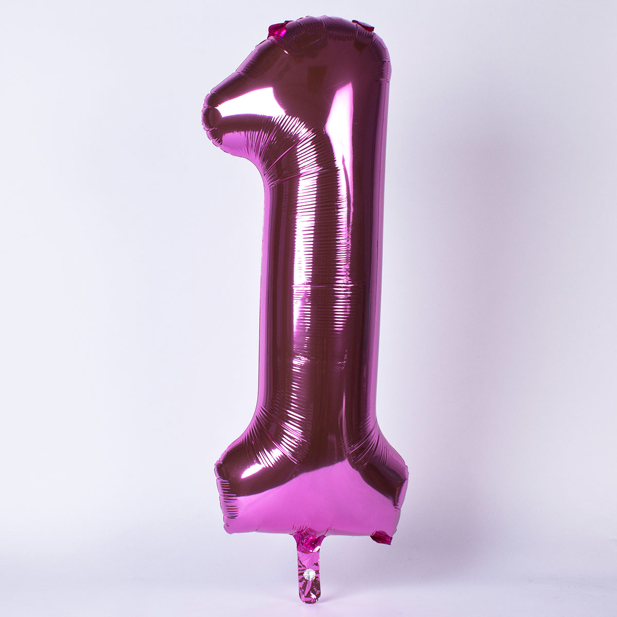 Pink Number 1 Giant Foil Helium Balloon INFLATED