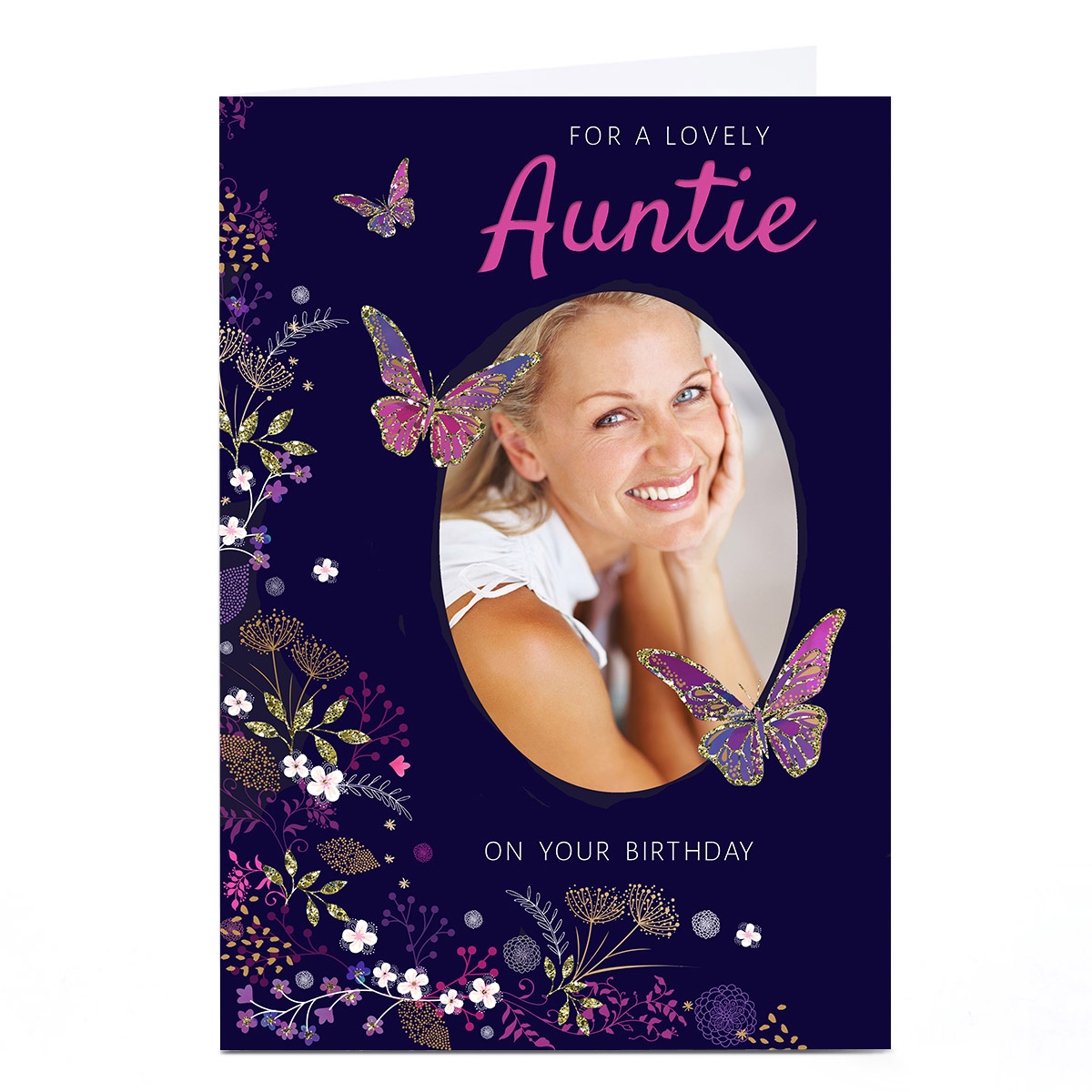 Personalised Kerry Spurling Photo Card - Auntie Upload