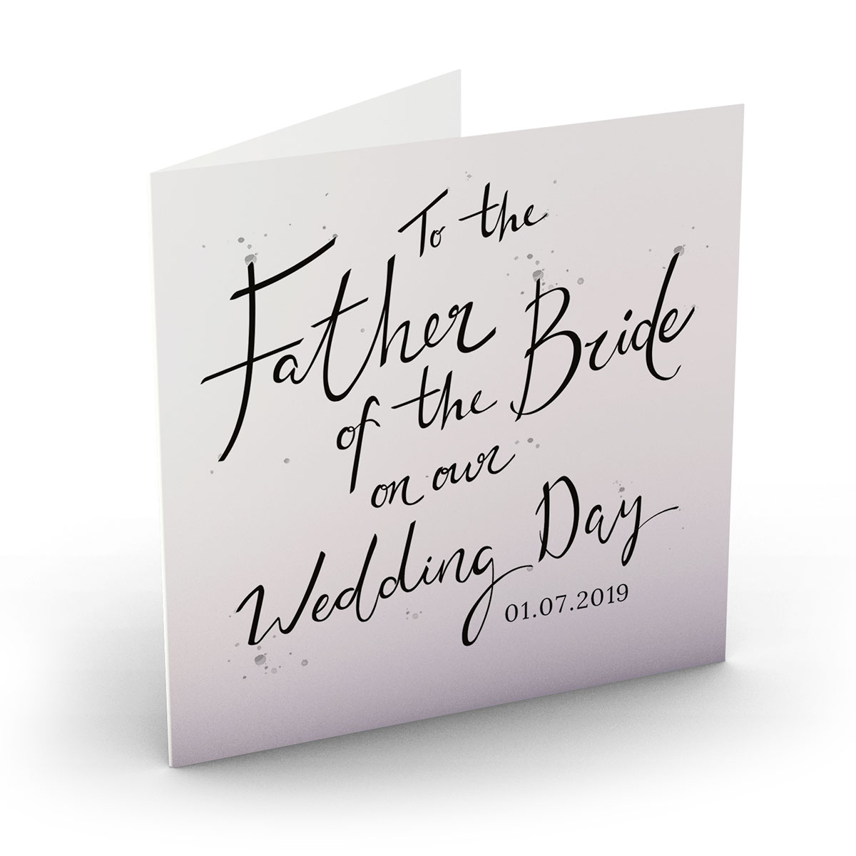 Personalised Wedding Card - Father Of The Bride