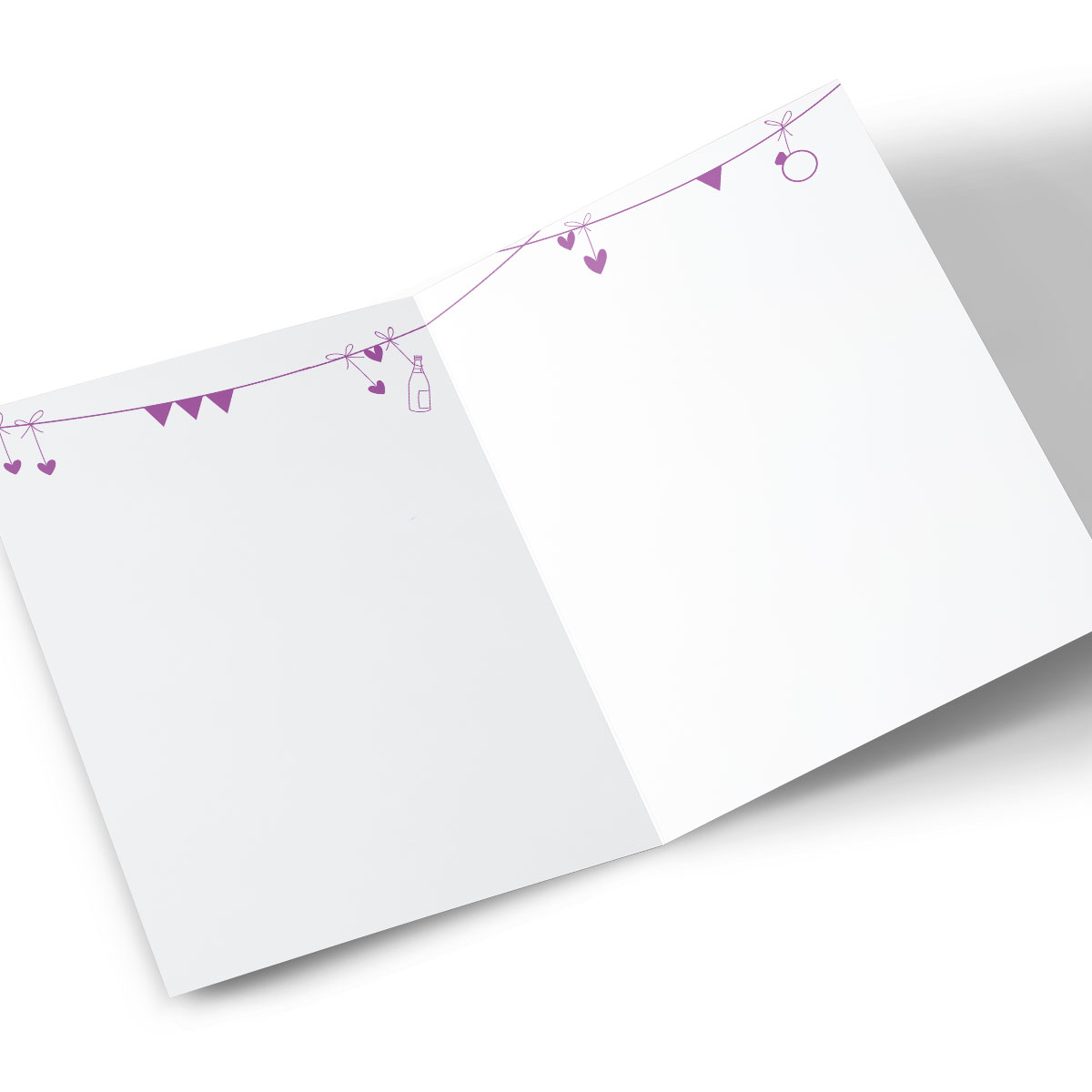 Personalised Engagement Card - Purple Bunting