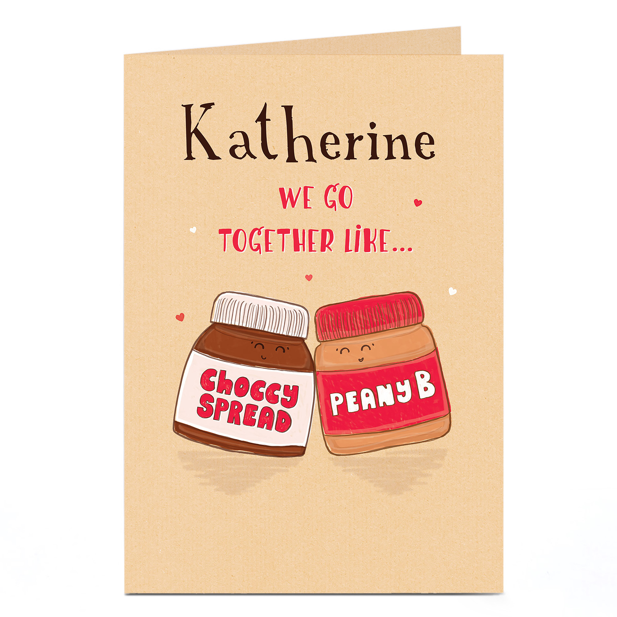 Personalised Card - Choccy Spread & Peany B