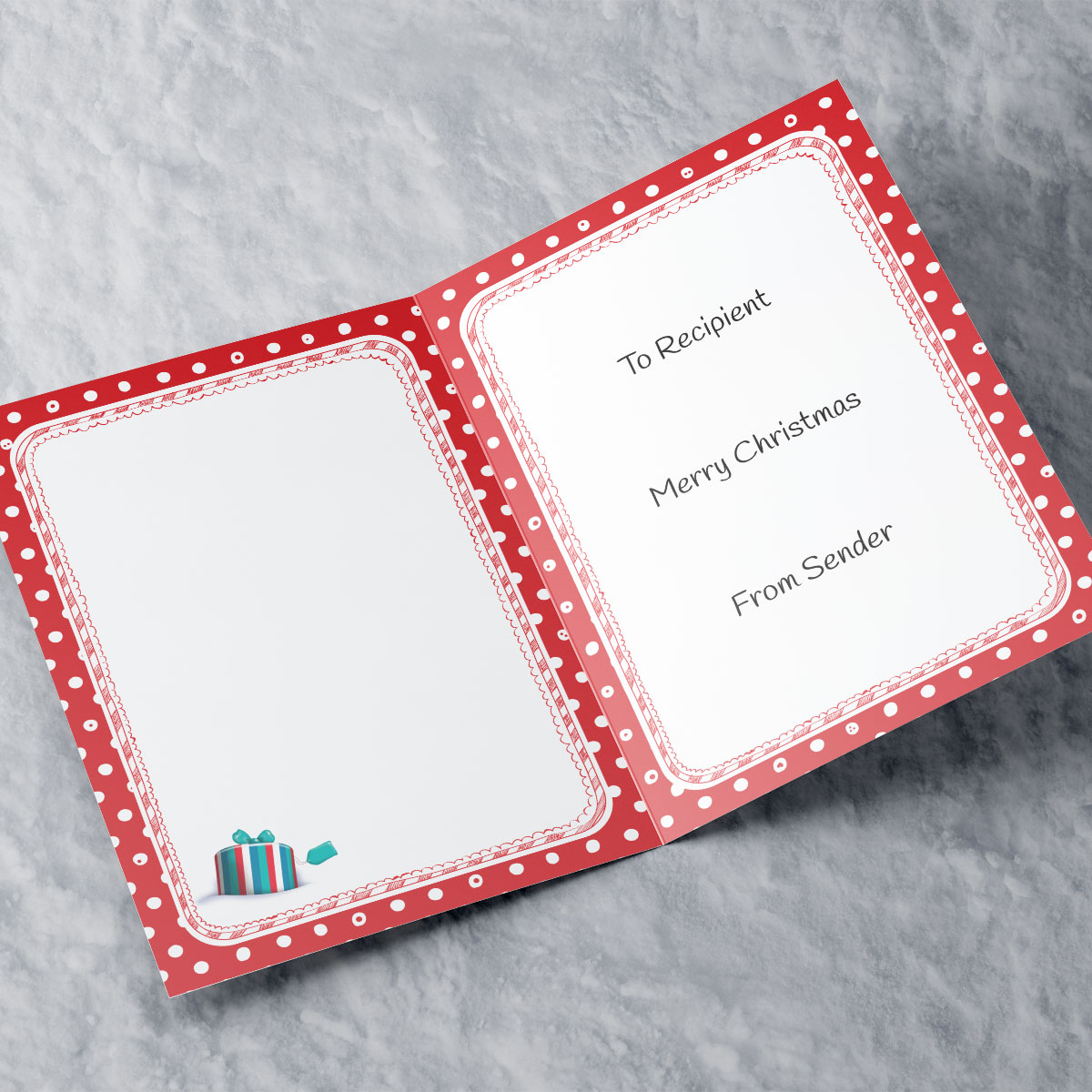 Hugs Personalised Christmas Card - Husband's Grotto
