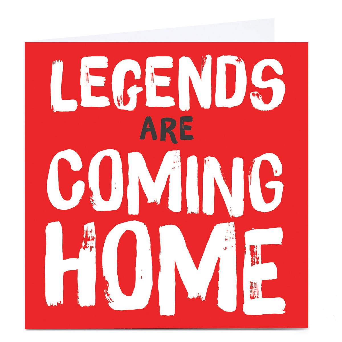 Personalised Football Card - Legends Are Coming Home Red