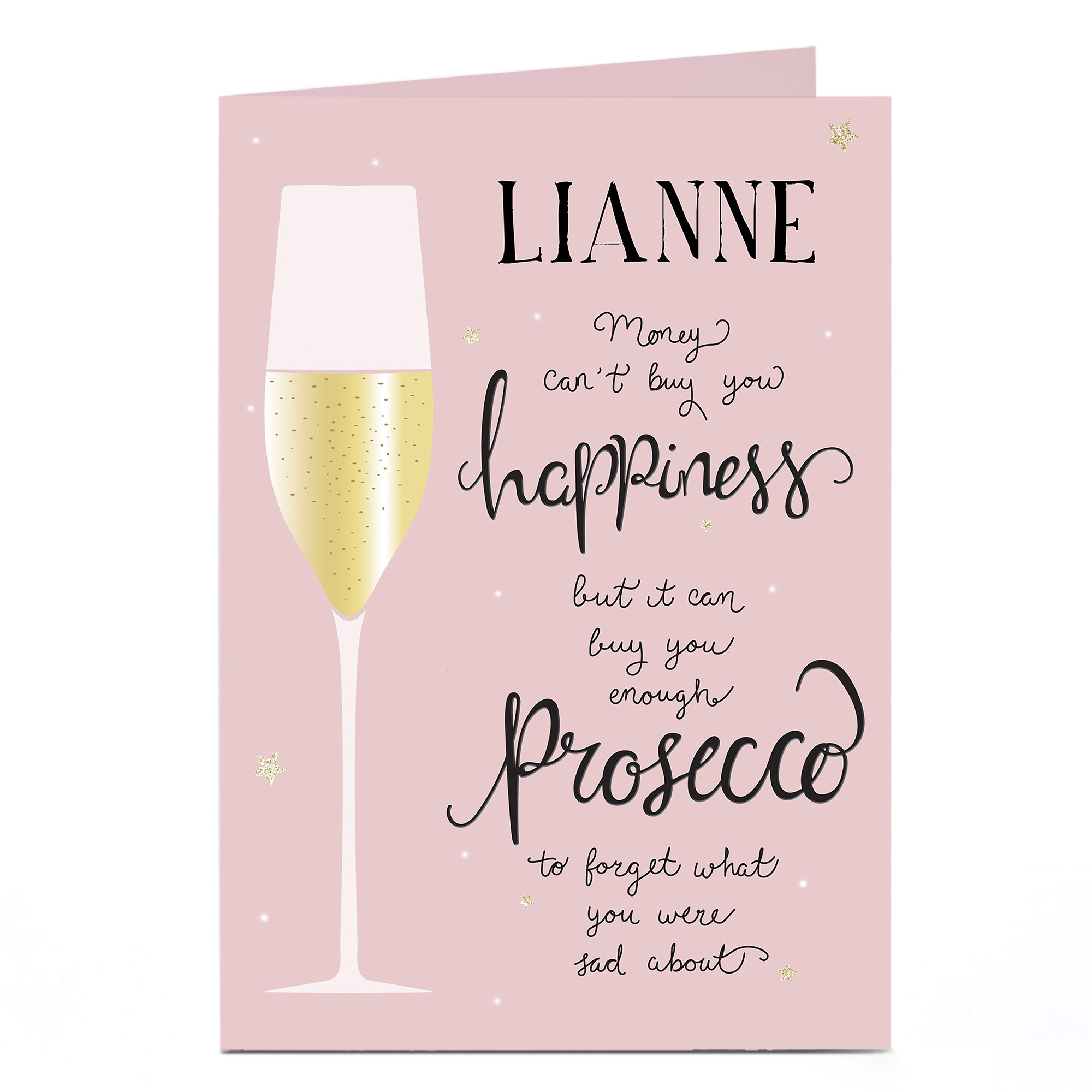 Personalised Birthday Card - Prosecco Happiness