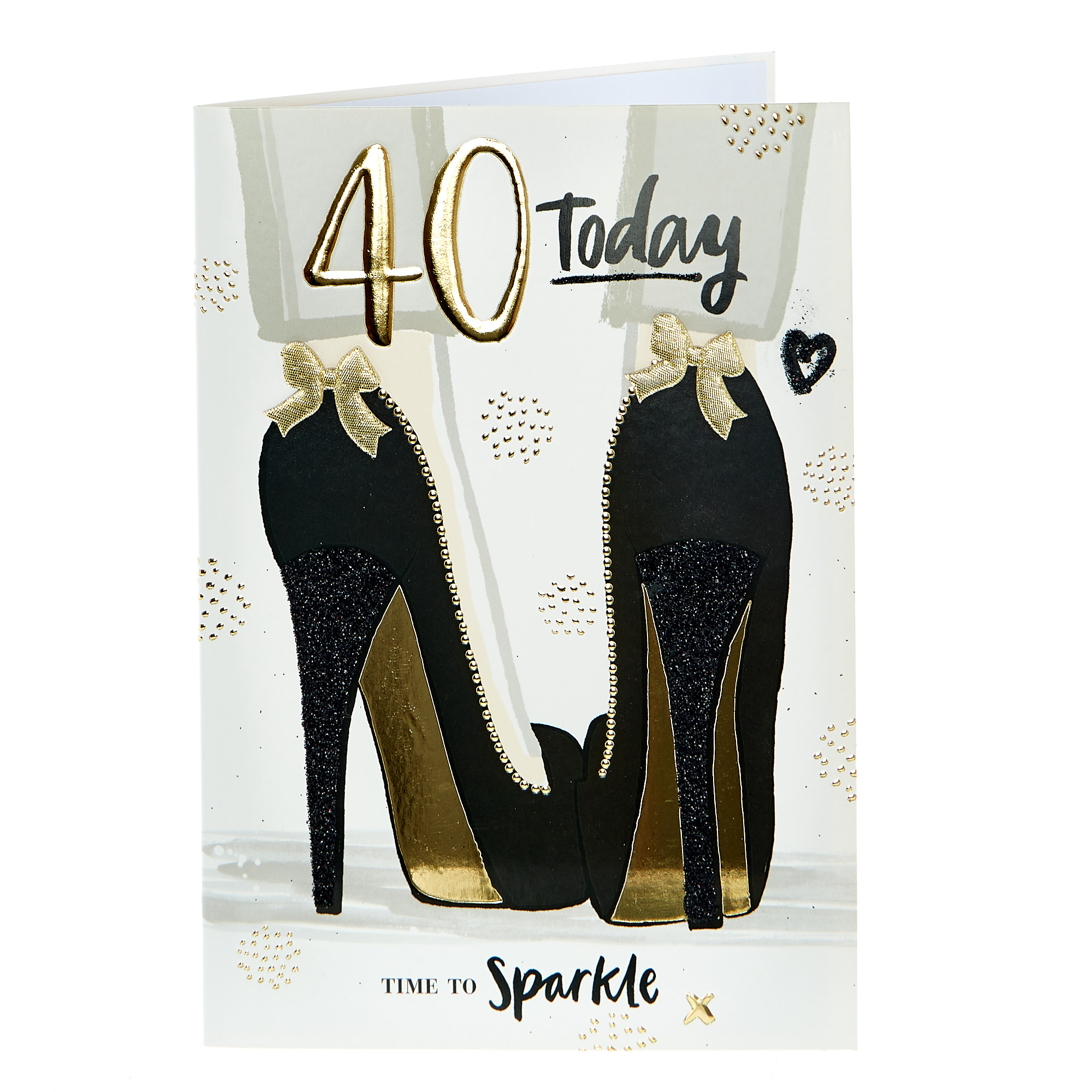 40th Birthday Card - Time To Sparkle