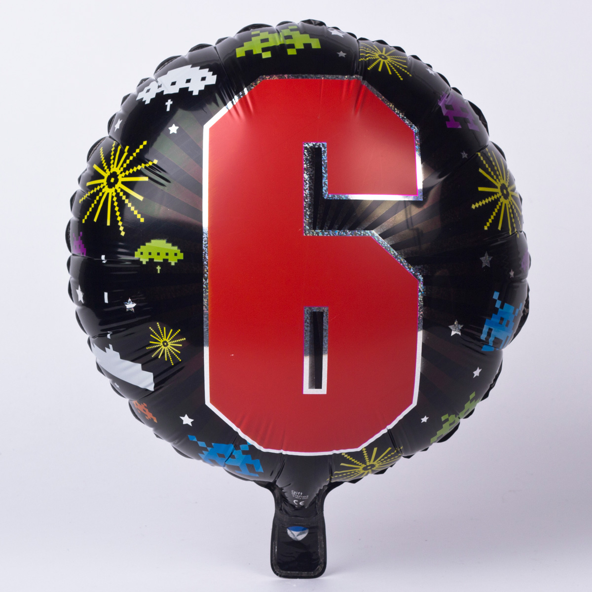 Retro Game Age 6 Foil Helium Balloon