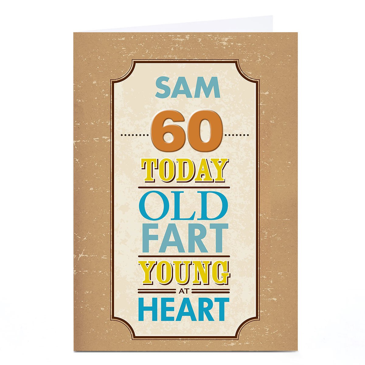 Personalised Any Age Birthday Card - Old Fart