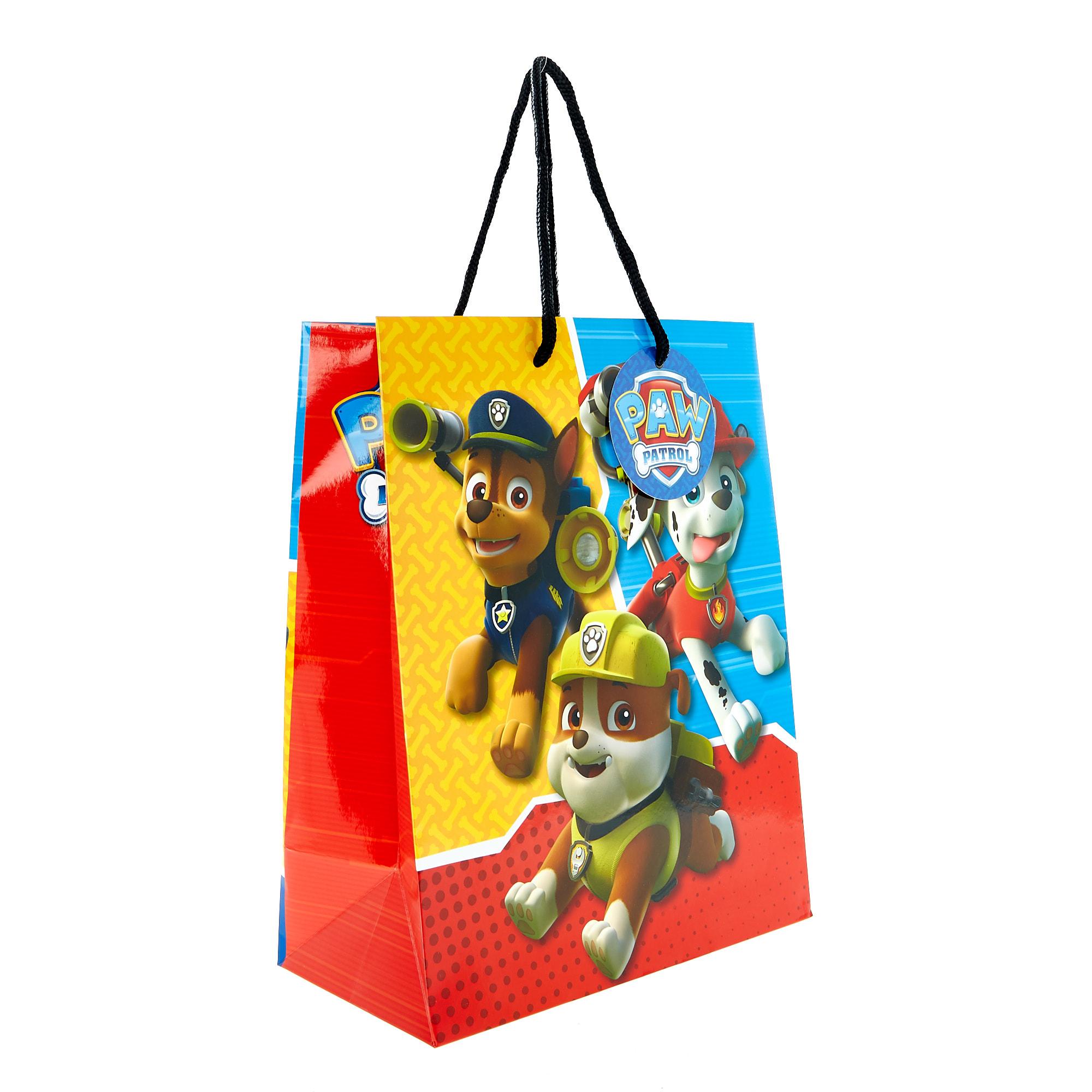 buy medium portrait gift bag  paw patrol for gbp 159