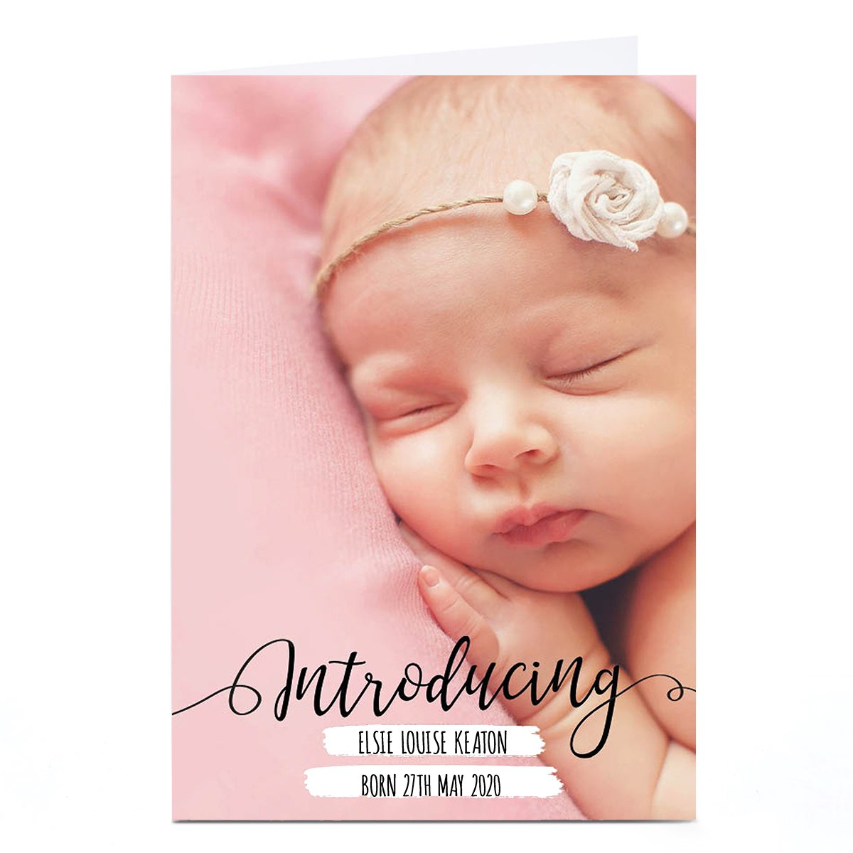 New Baby Photo Card - Full Photo