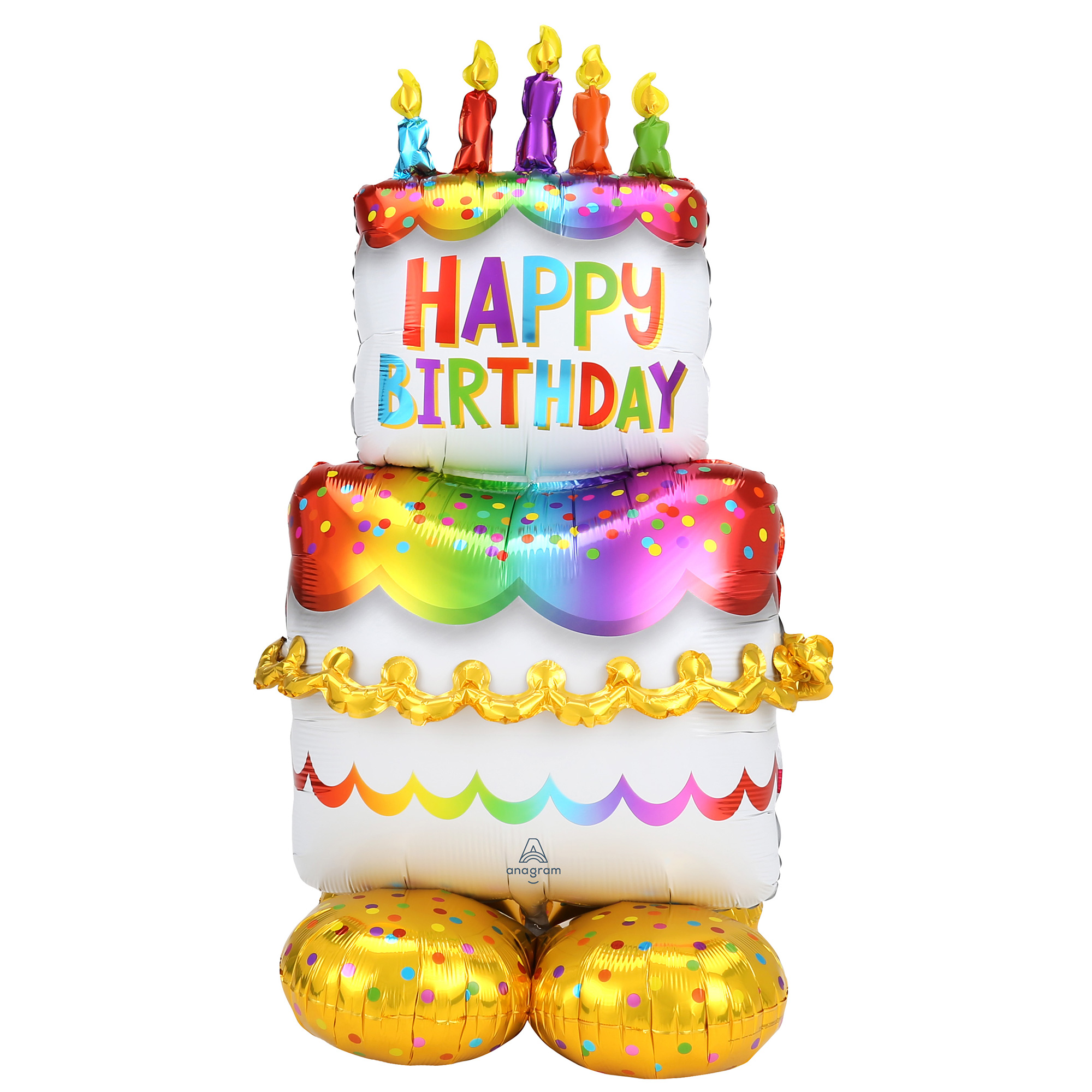 Buy Large 53 Airloonz Happy Birthday Cake Balloon For Gbp 15 99 Card Factory Uk