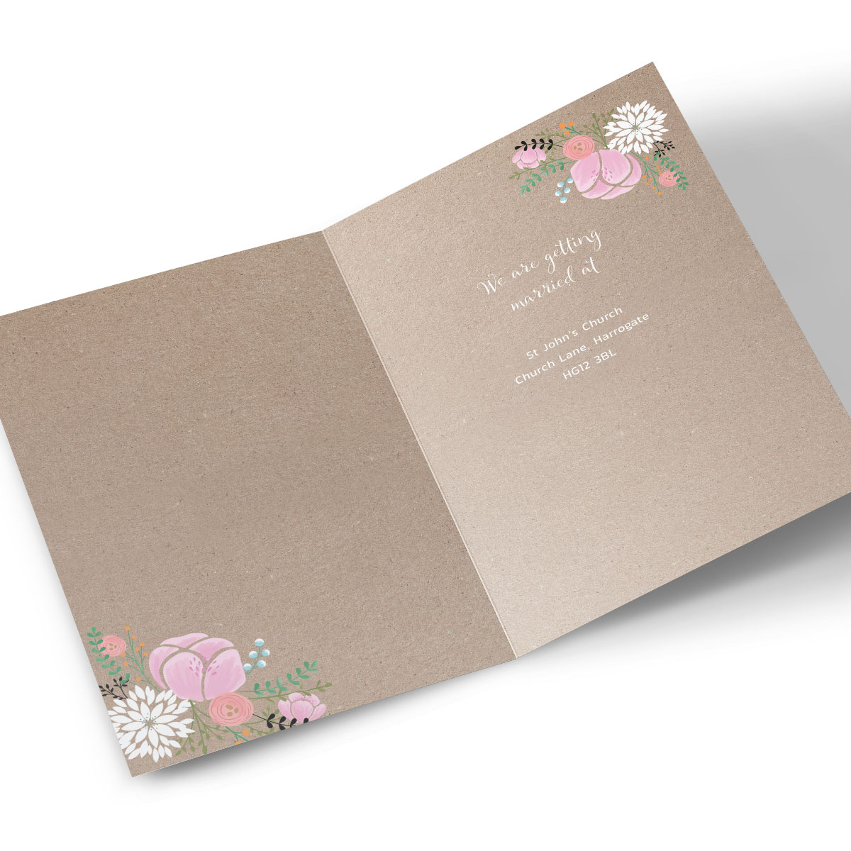 Personalised Save The Date Card - Rustic Floral