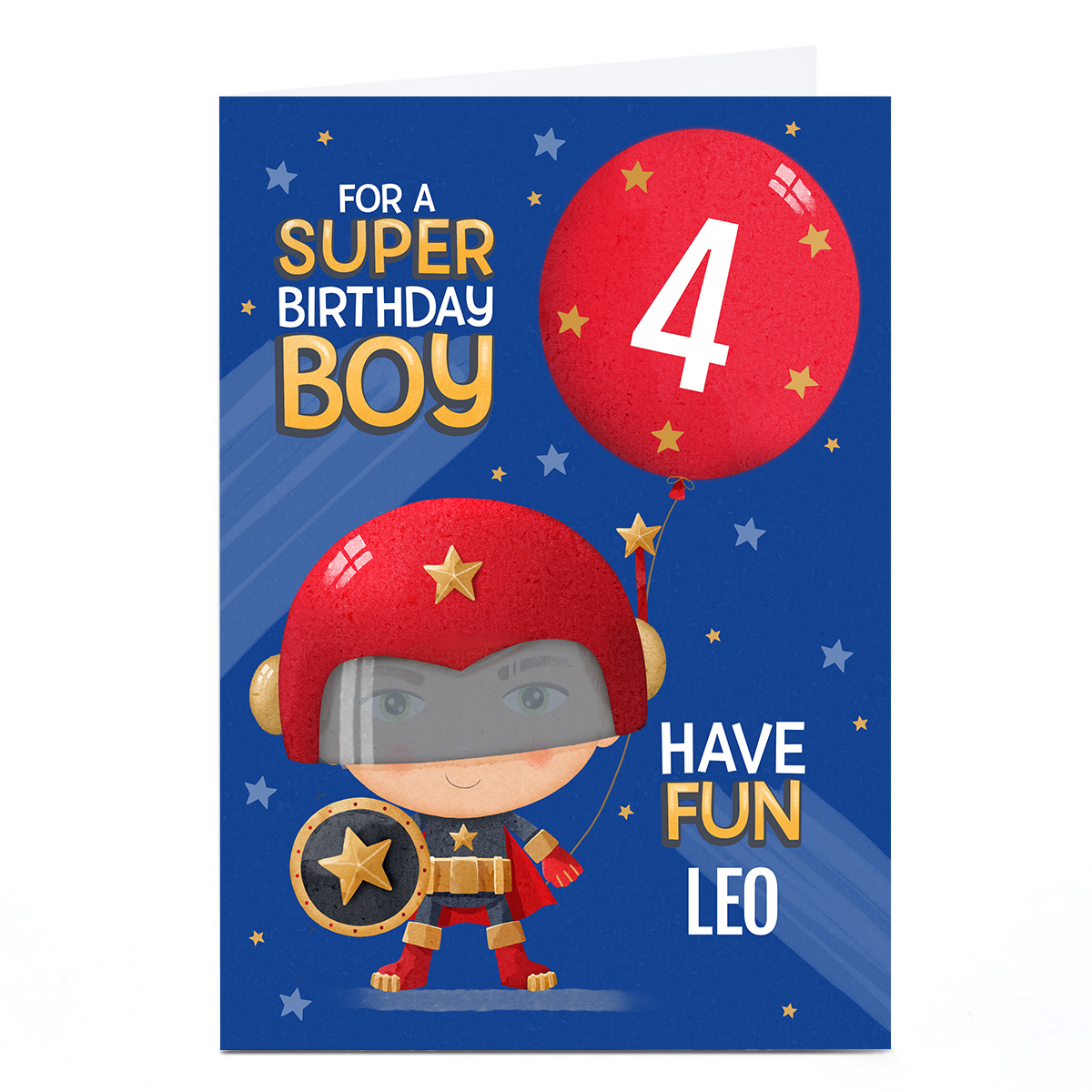 Personalised Card - Super Boy Birthday