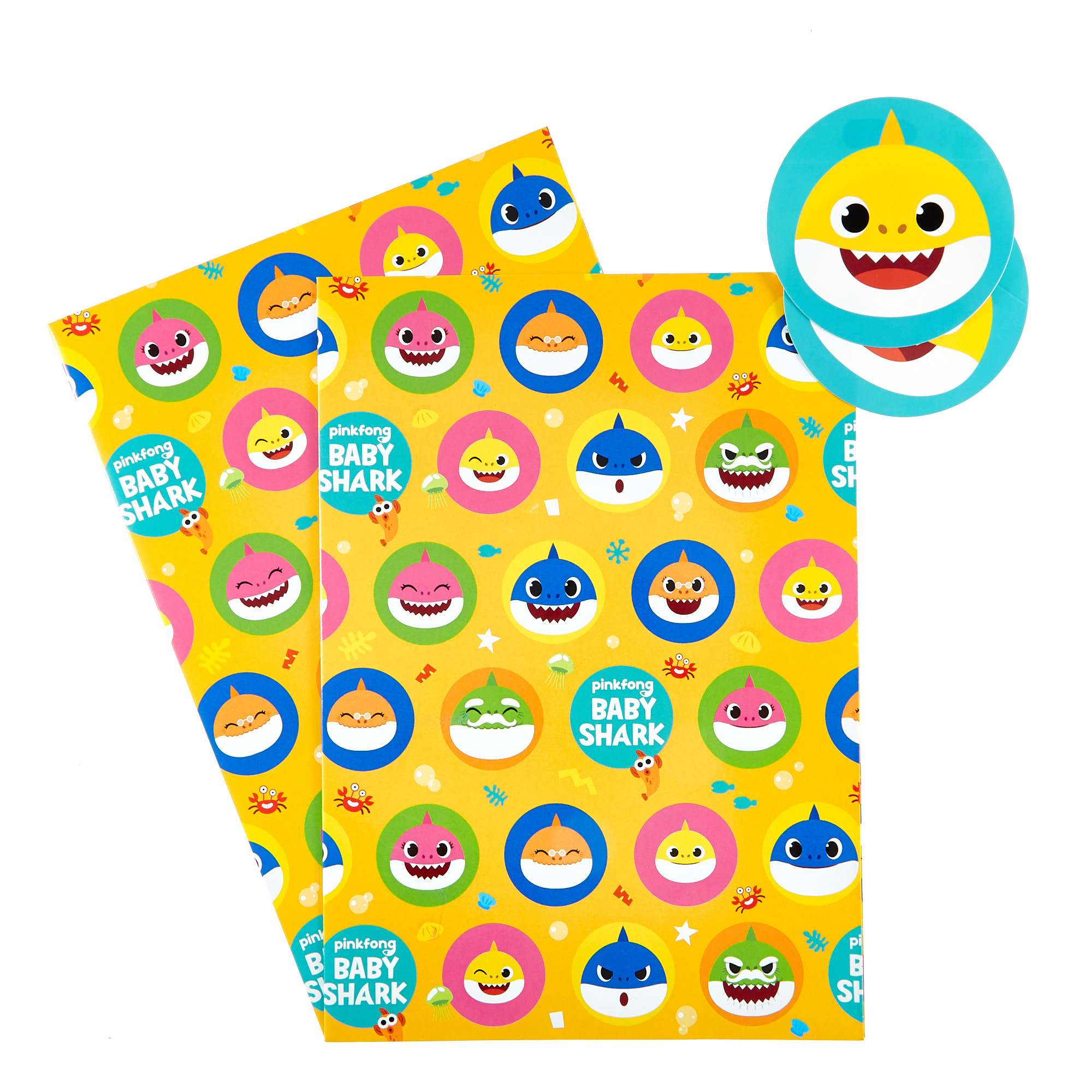 buy baby shark wrapping paper  gift tags  pack of 2 for