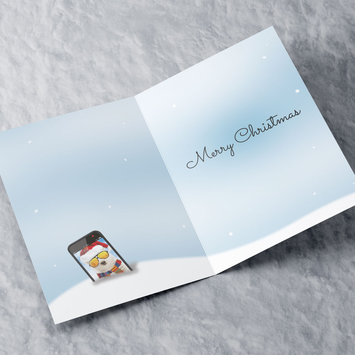 Personalised Christmas Card - Have Your Selfie A Merry Christmas - Godson