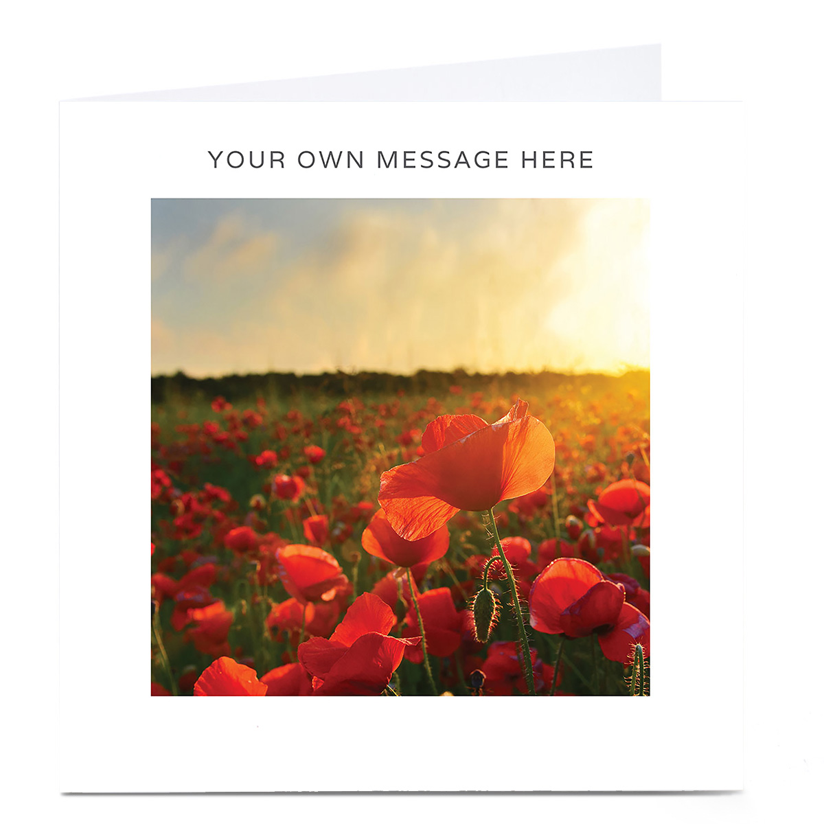 Personalised Card - Field Of Poppies