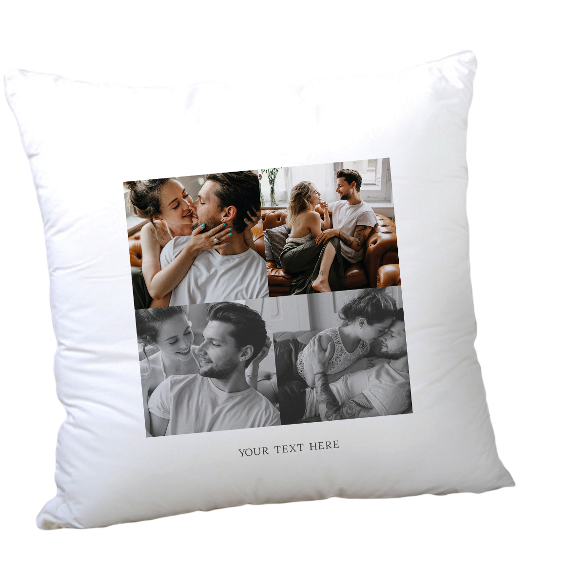 Multi Photo Valentine's Cushion - 4 Photos, Any Message
