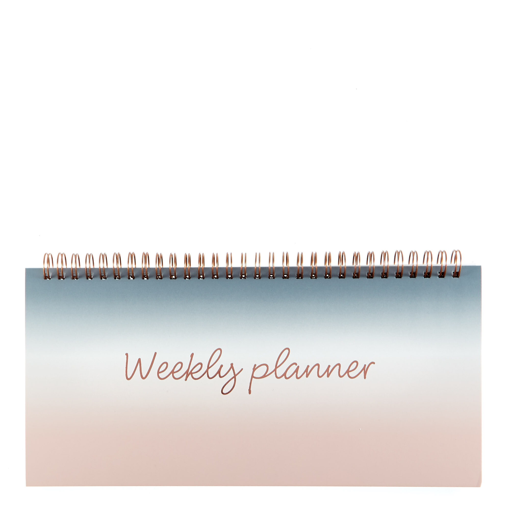 Rose & Grey Ombre Weekly Desk Planner
