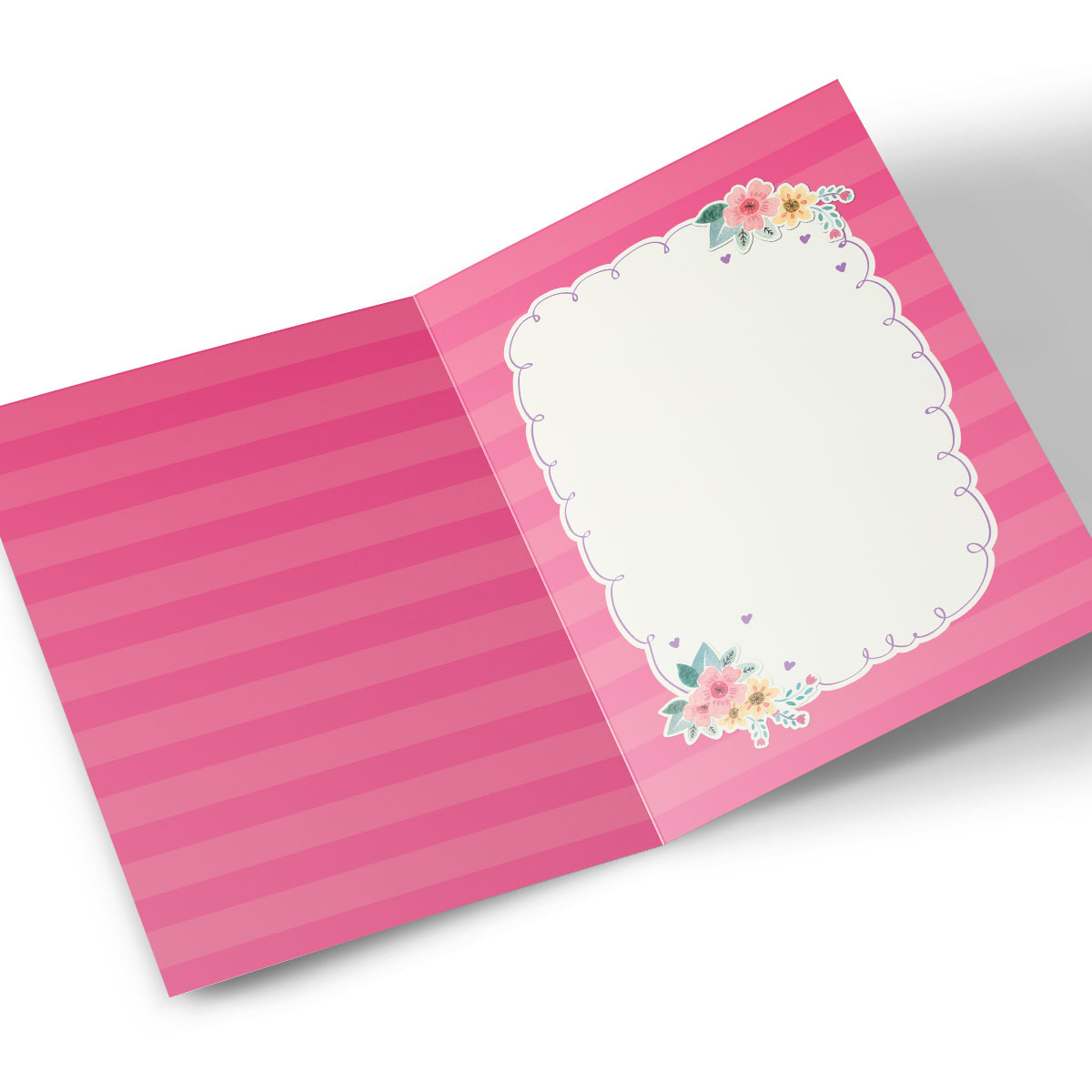 Personalised Hugs Bear Card - Pink Roses