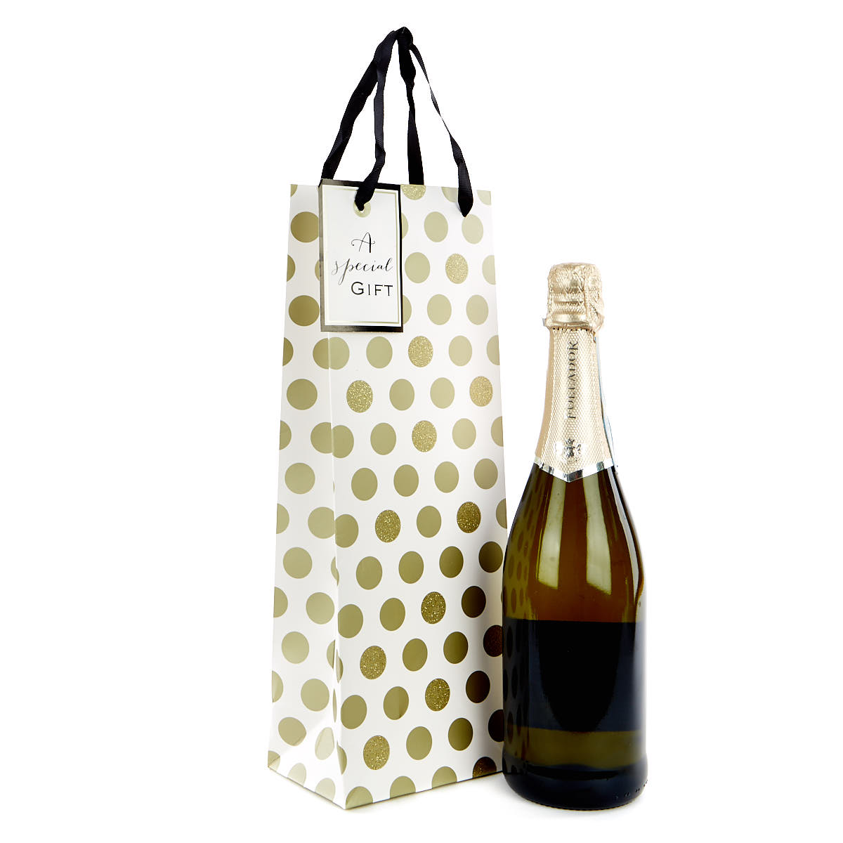 Gold Polka Dot Bottle Bag -  A Special Gift