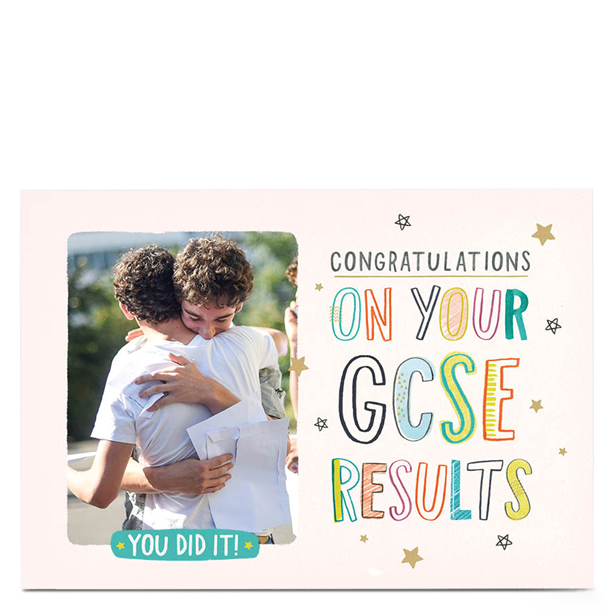 Personalised Photo Card - Eday GCSE Results