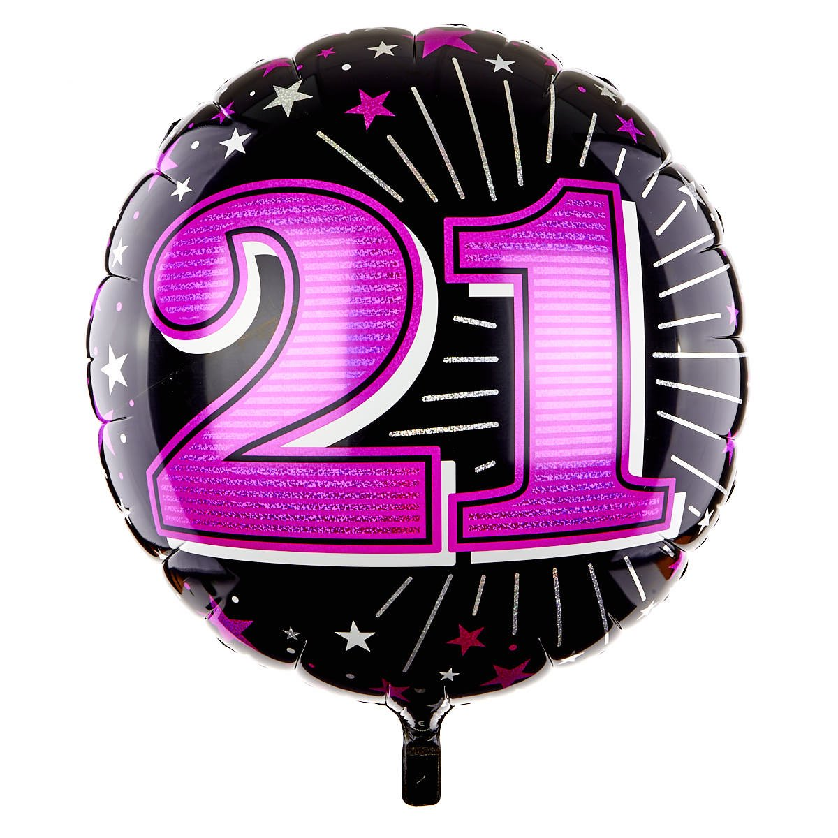 31 Inch 21st Birthday Helium Balloon - Pink