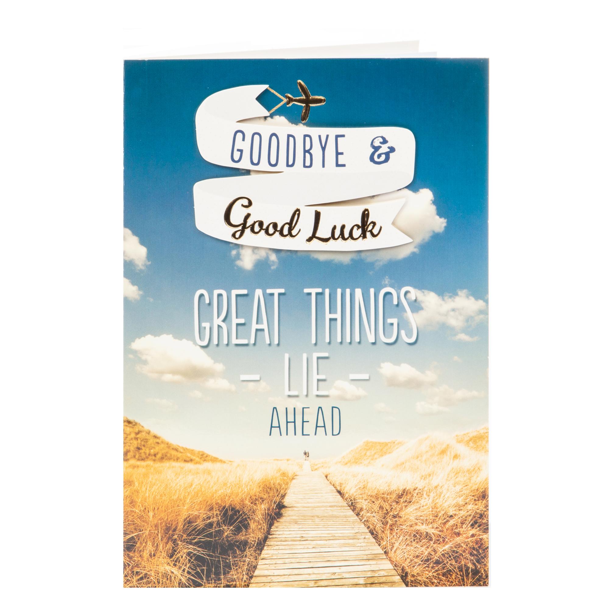 buy leaving card  goodbye  good luck for gbp 099  card