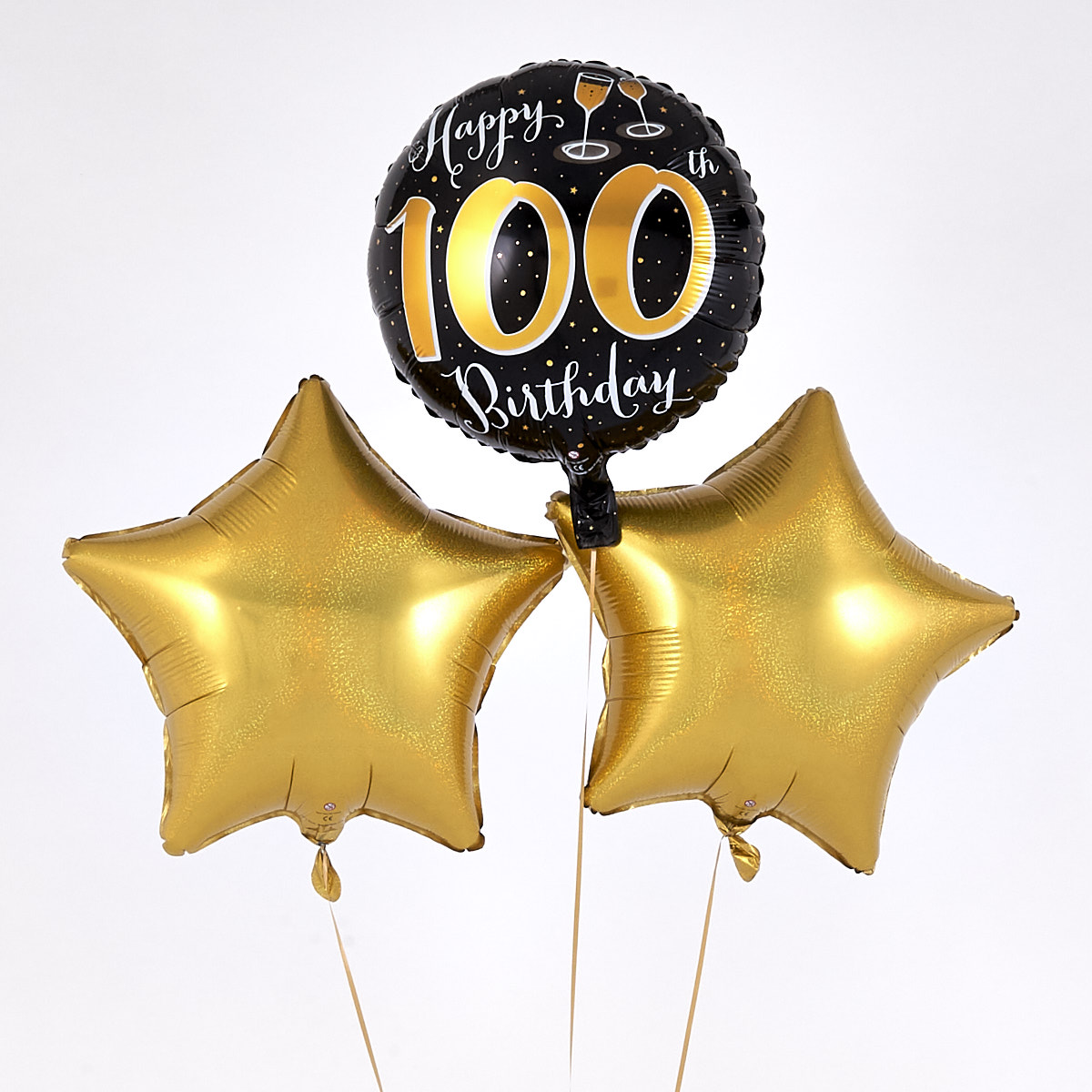 Happy 100th Birthday Gold Balloon Bouquet - The Perfect Gift!