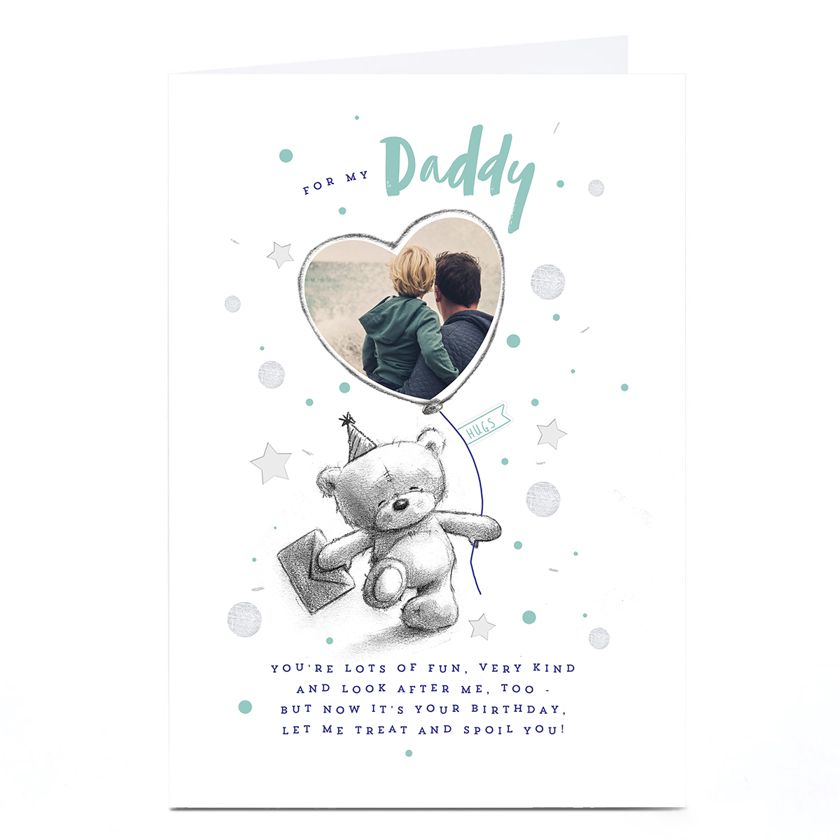 Personalised Birthday Photo Card - For My Daddy