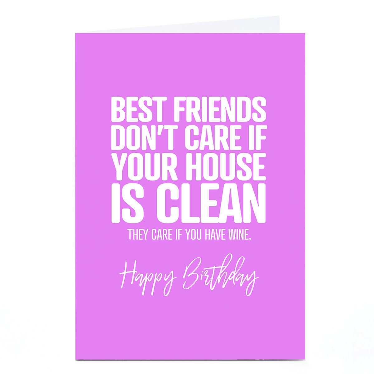 Personalised Punk Birthday Card - Best Friends Don't Care