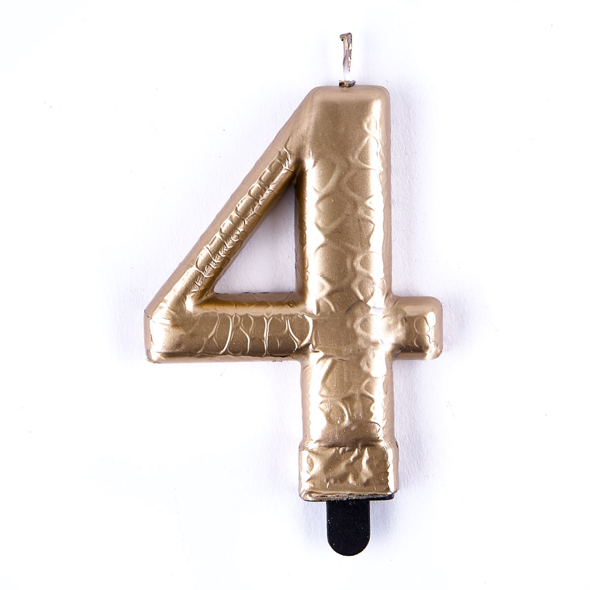 Gold Metallic Number 4 Birthday Candle