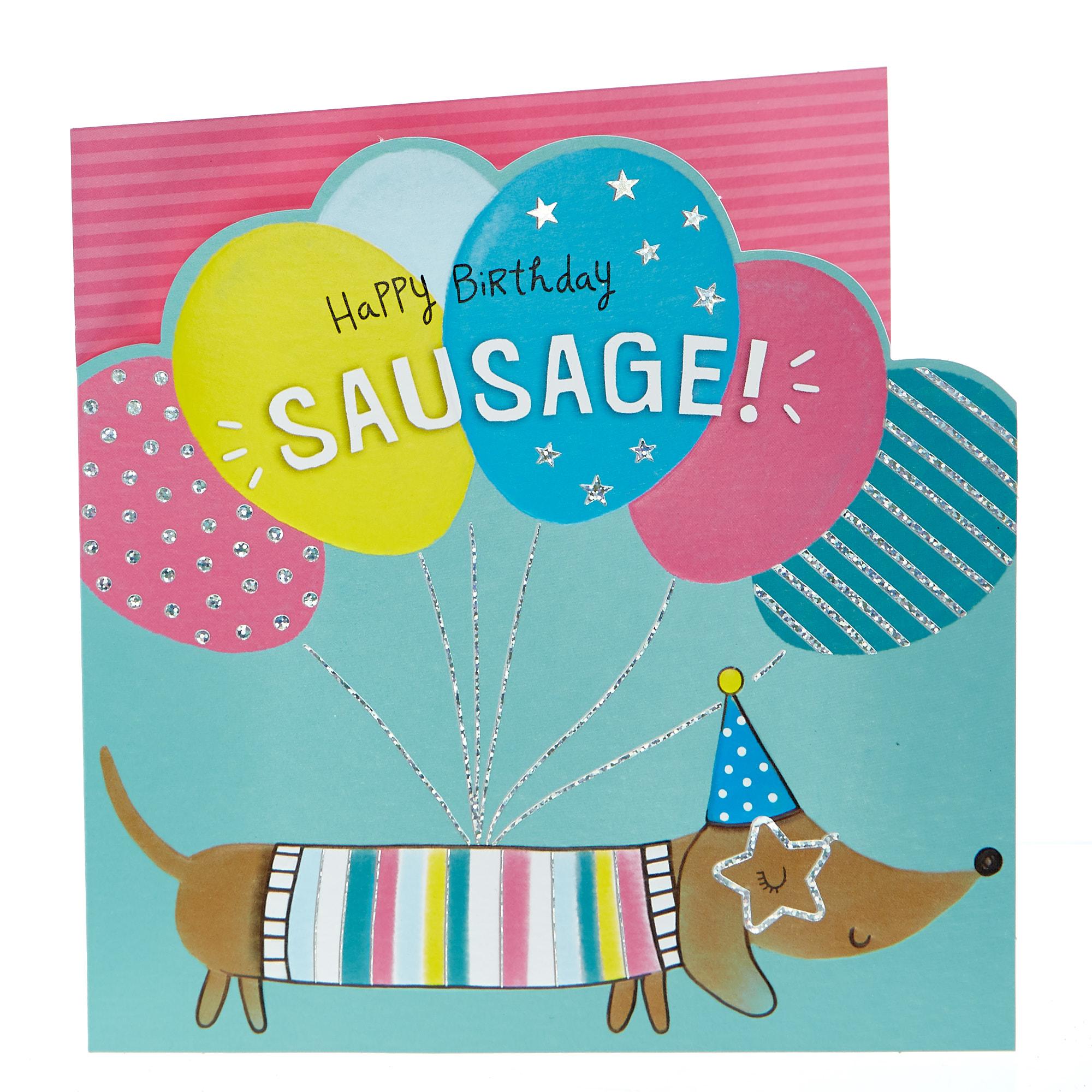 buy birthday card  happy birthday sausage for gbp 099