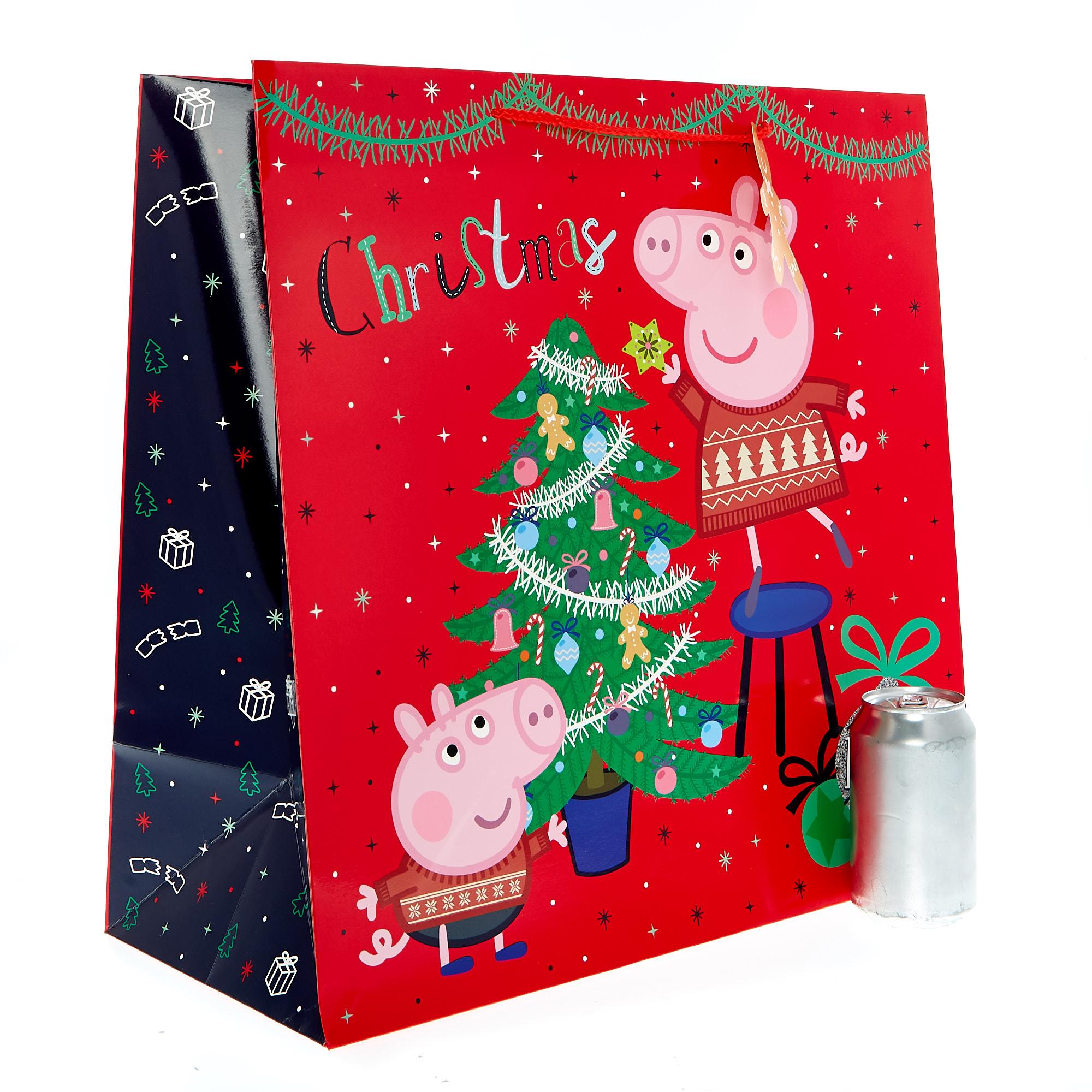 buy jumbo square peppa pig christmas gift bag for gbp 199